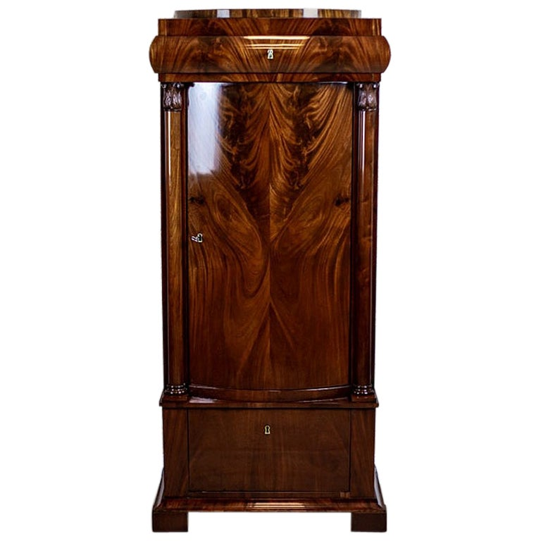 19th Century Biedermeier Mahogany Cabinet