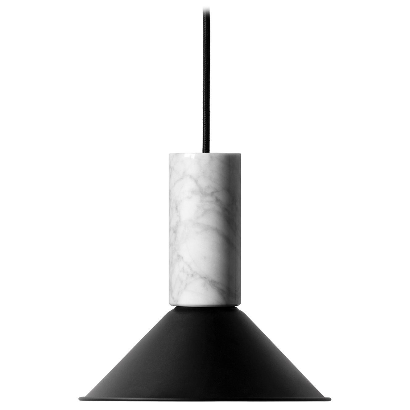 "Lava Stone and Aluminum Pendant Light, ""R,"" L, by Buzao"