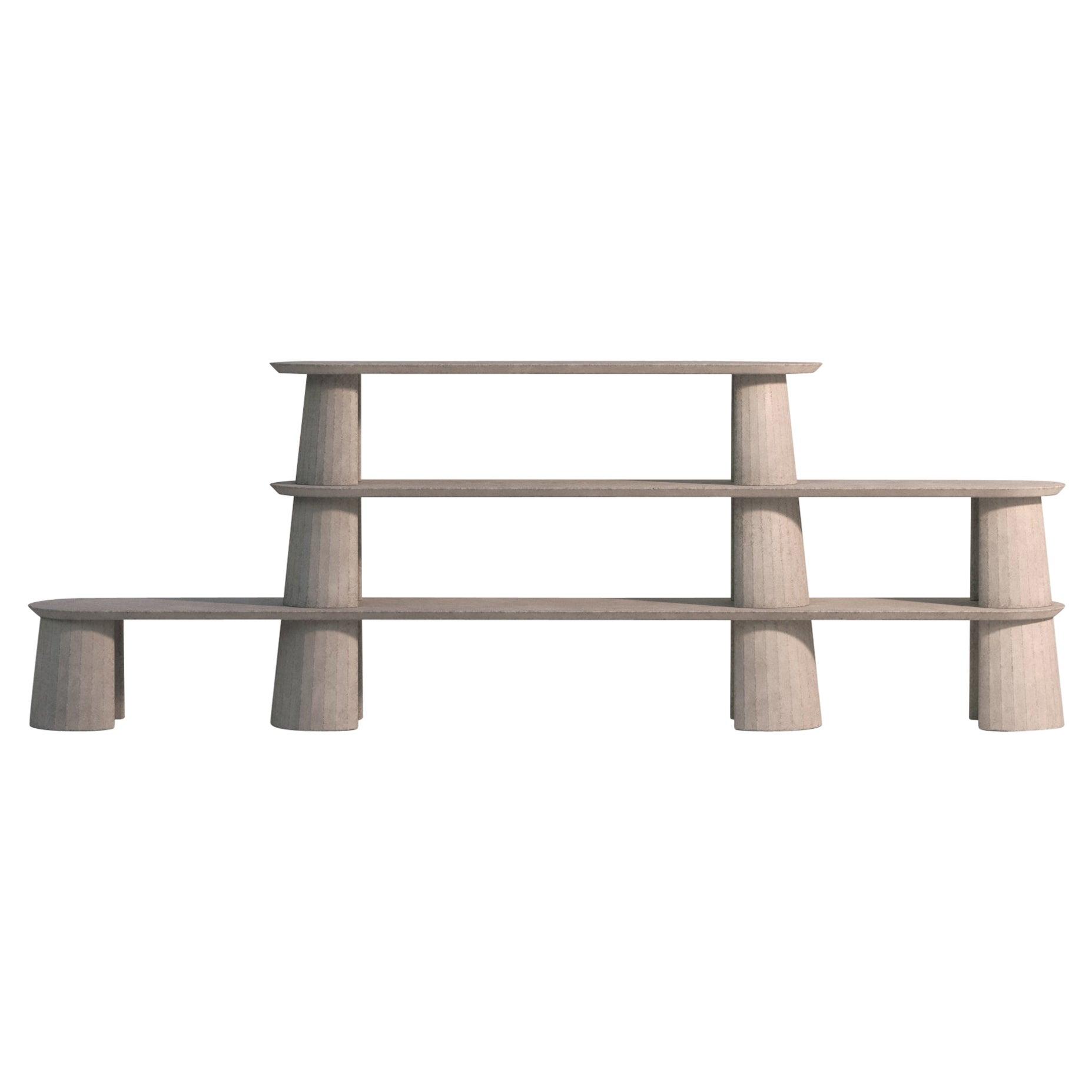 21st Century Studio Irvine Fusto Bookcase Mod.I Concrete Bookshelf Beige Cement