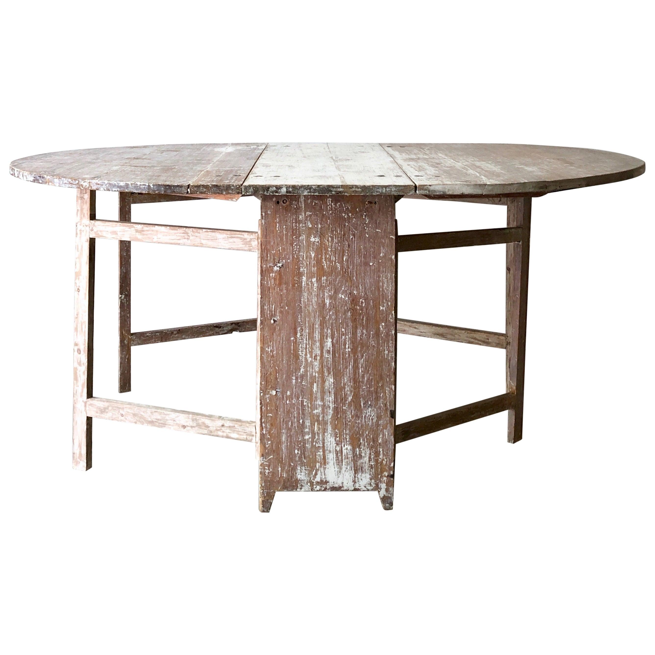 19th Century Swedish Gate Leg Table