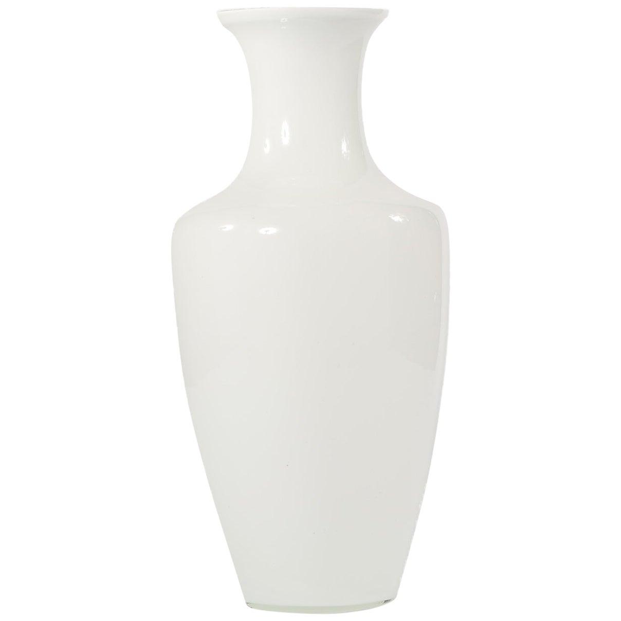 Large 20th Century Glass Floor Vase / Umbrella Stand