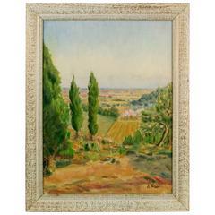 Italian Painting-Tuscany Landscape