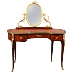 Late 19th Century Gilt Bronze-Mounted Louis XV Style Dressing Table