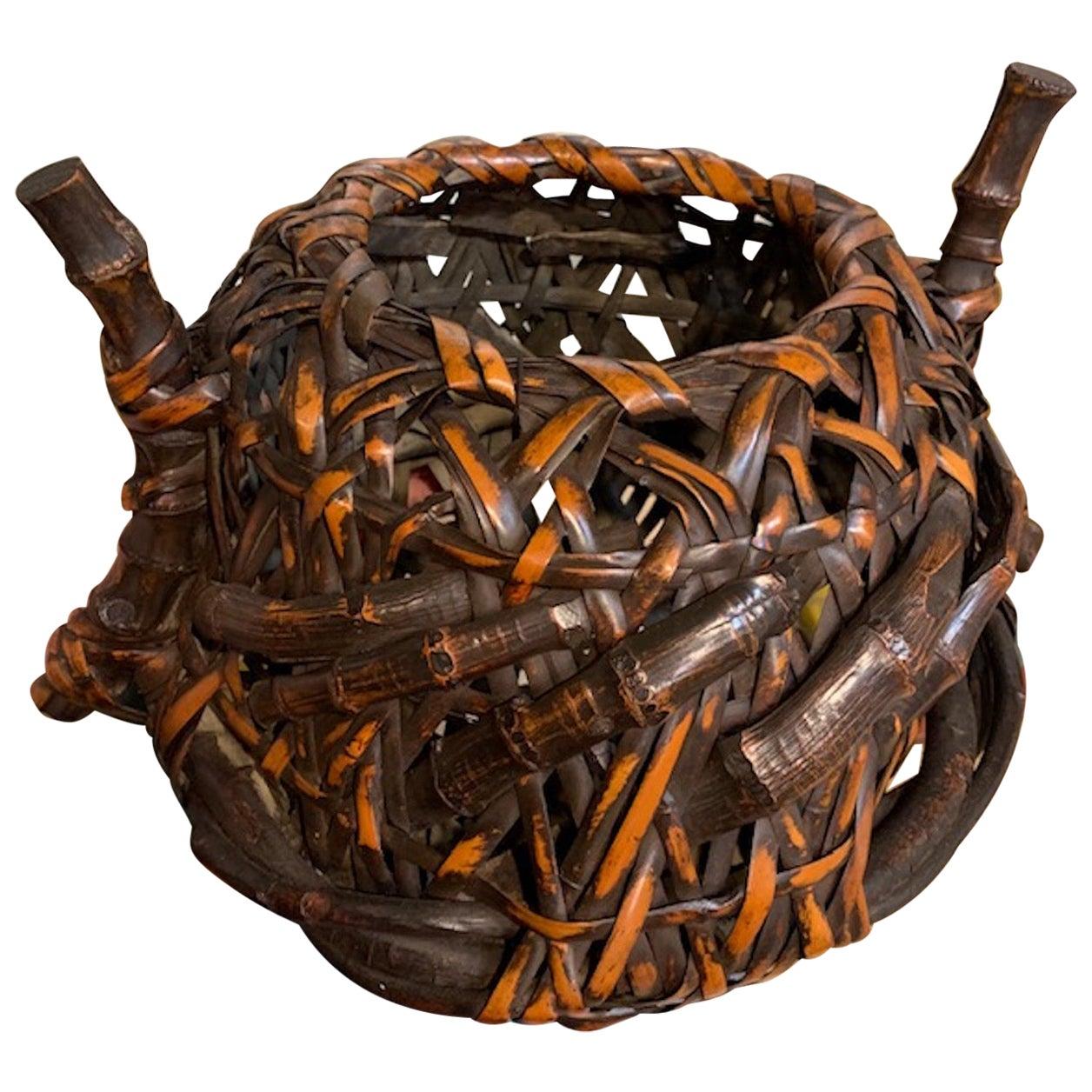 19th Century Japanese Kago, 'Ikebana Display Basket'