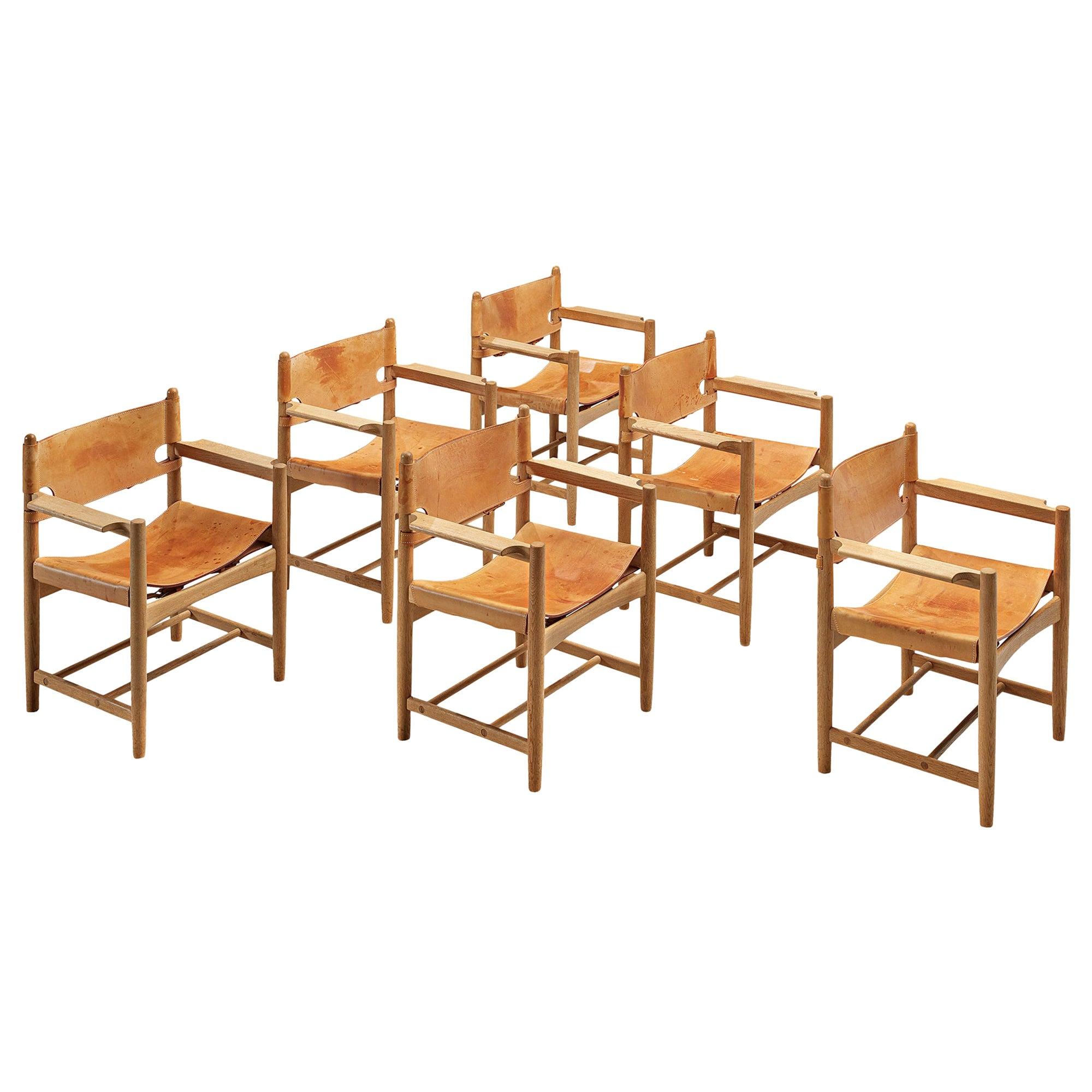Børge Mogensen Armchairs in Solid Oak
