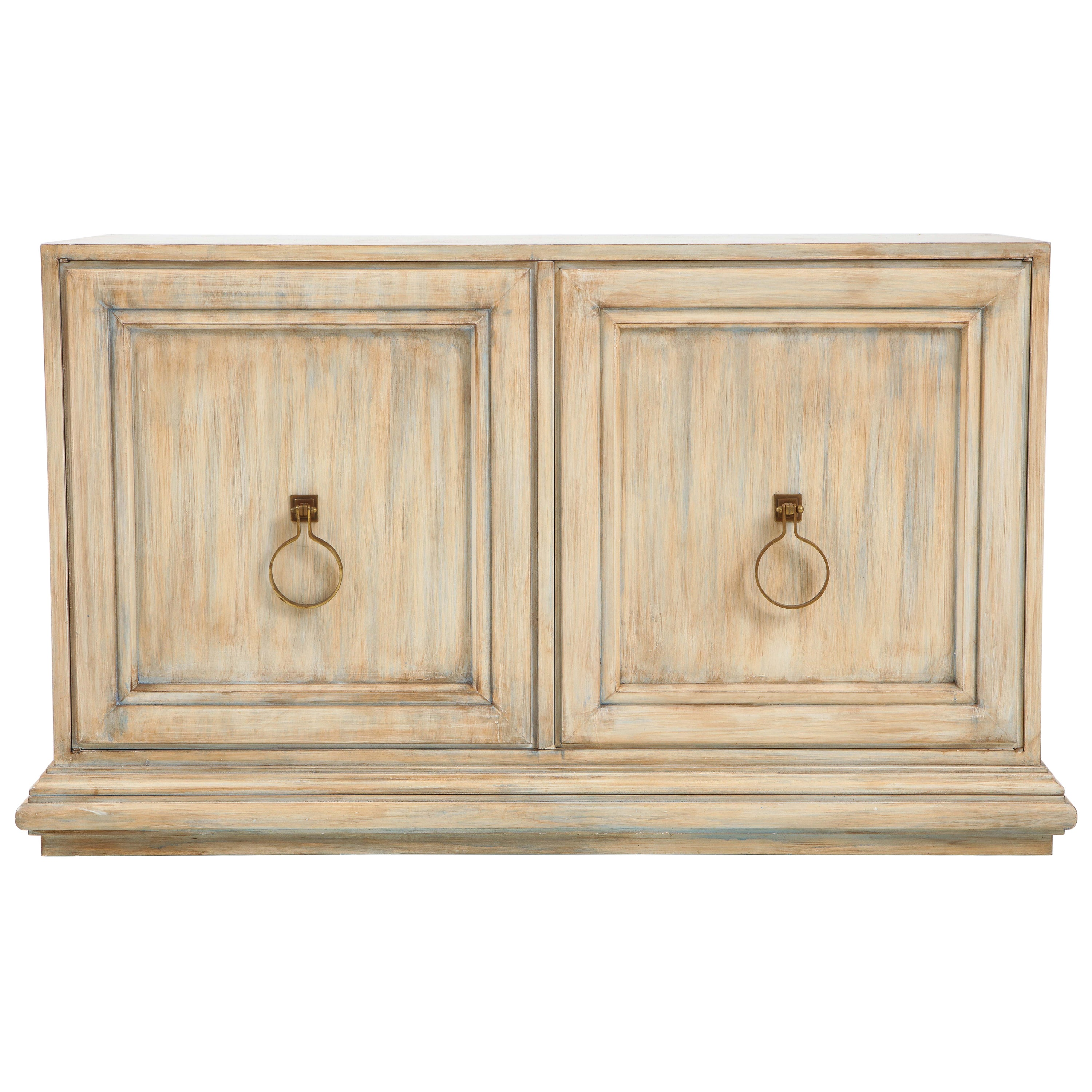 Tommi Parzinger Driftwood Finished Cabinet, Console