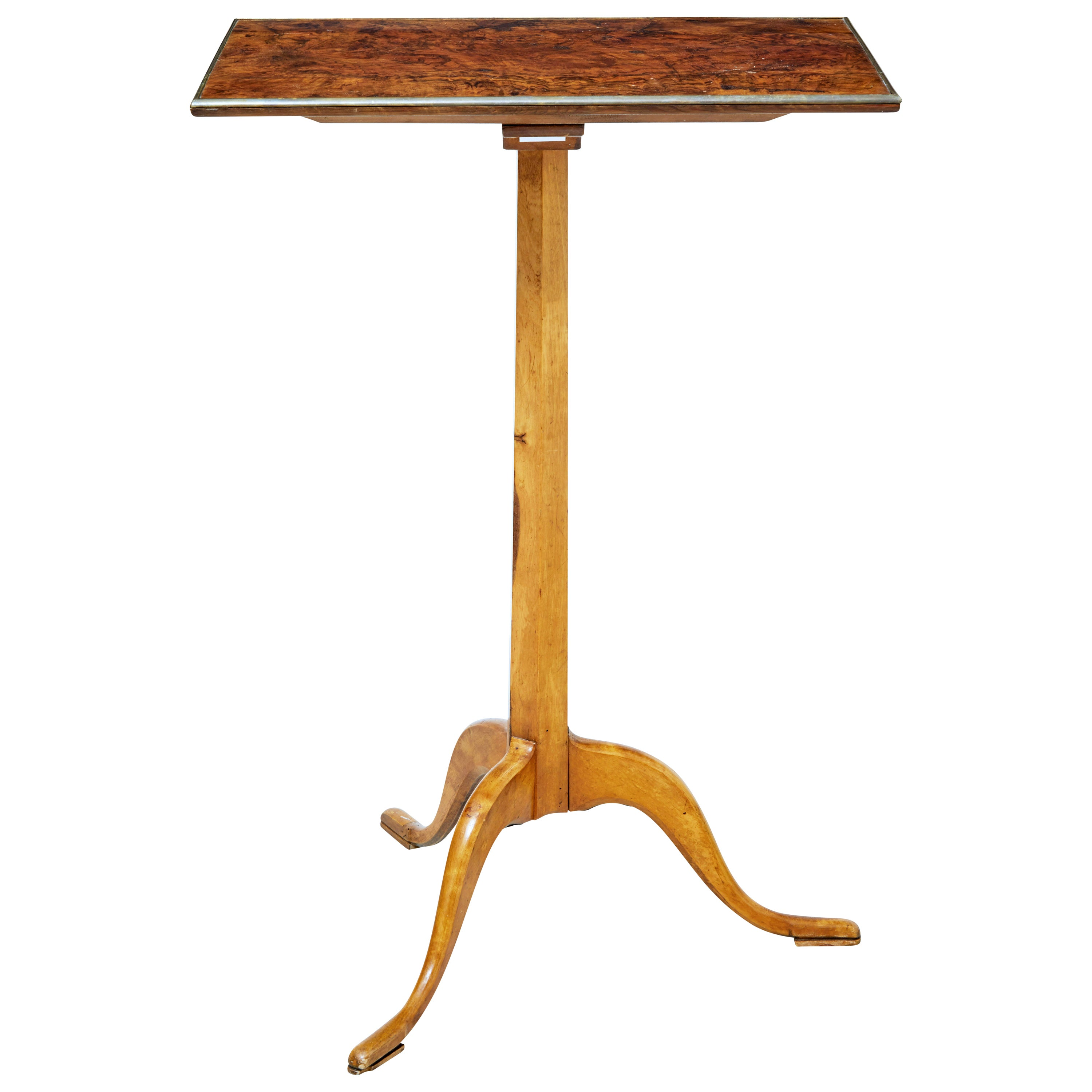 19th Century Burr Walnut Occasional Table