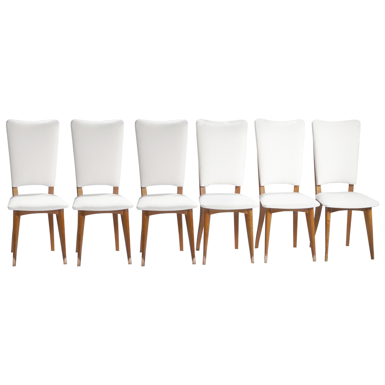 Set of 6 Midcentury Scandinavian Teak Chairs, 1960s