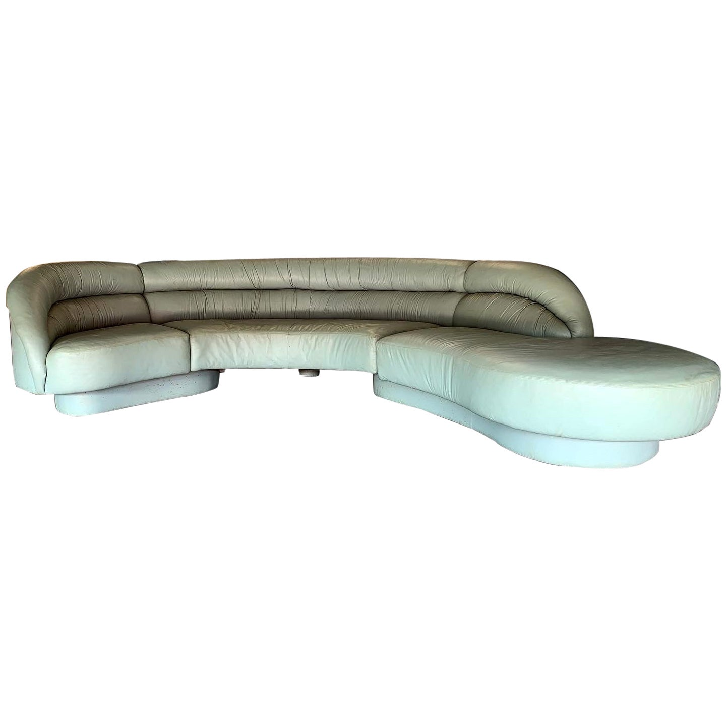 Vladimir Kagan for Directional 3-Piece Serpentine Sectional