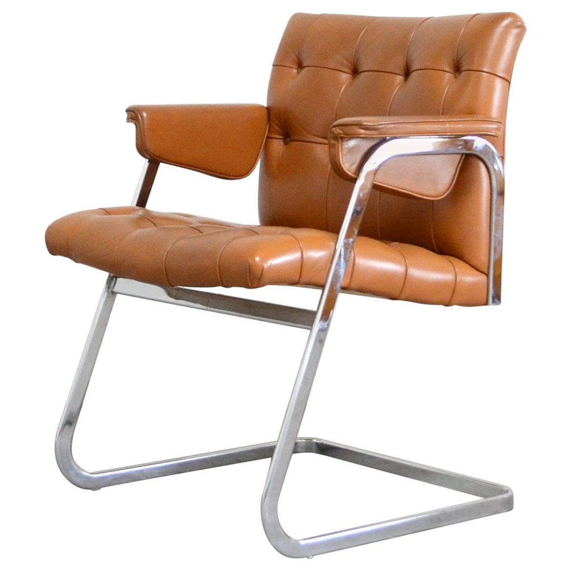 Robert Haussmann De Sede RH 305/ 304 UNESCO Softpad Chair Cognac