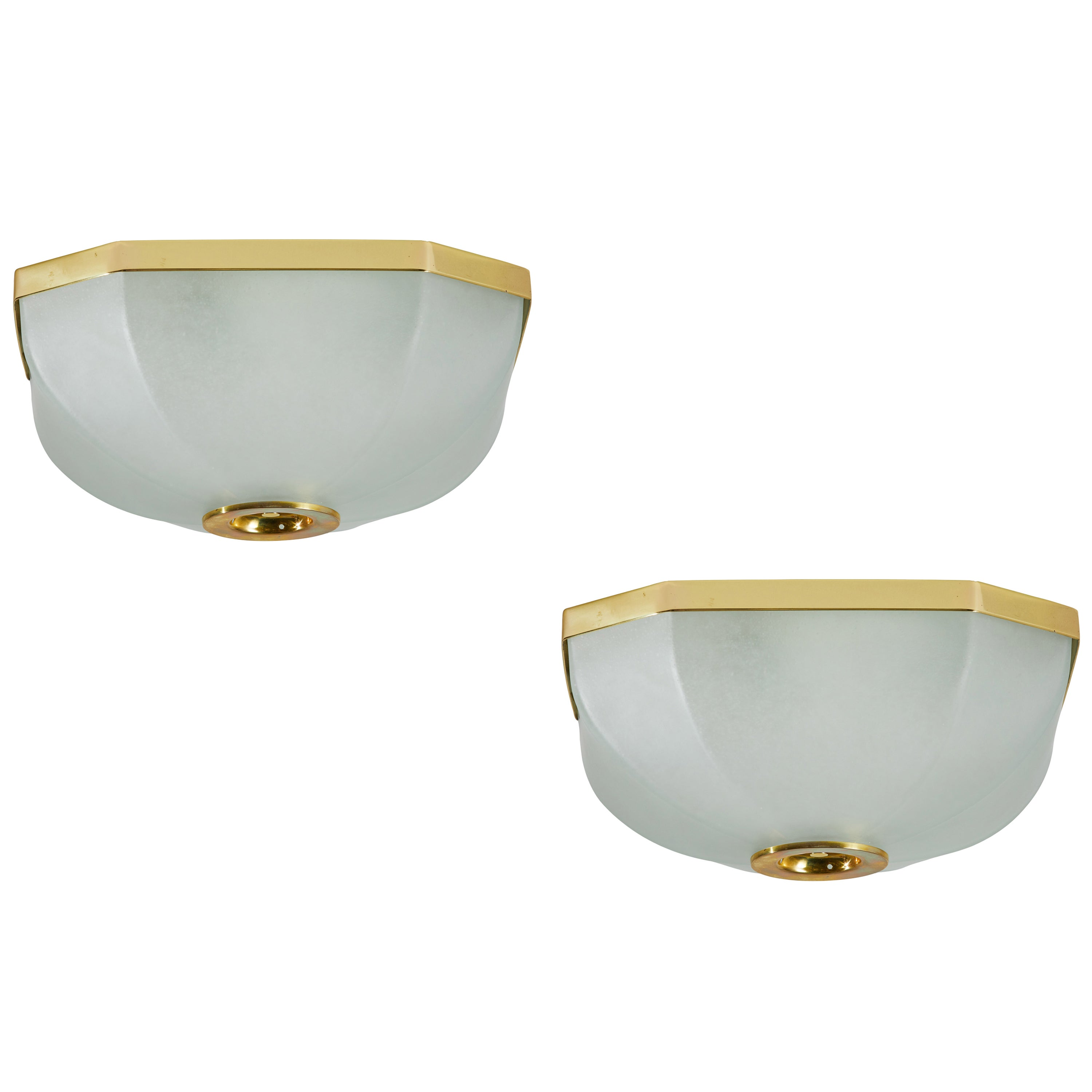 Two Flushmount Ceiling Lights by Lumi
