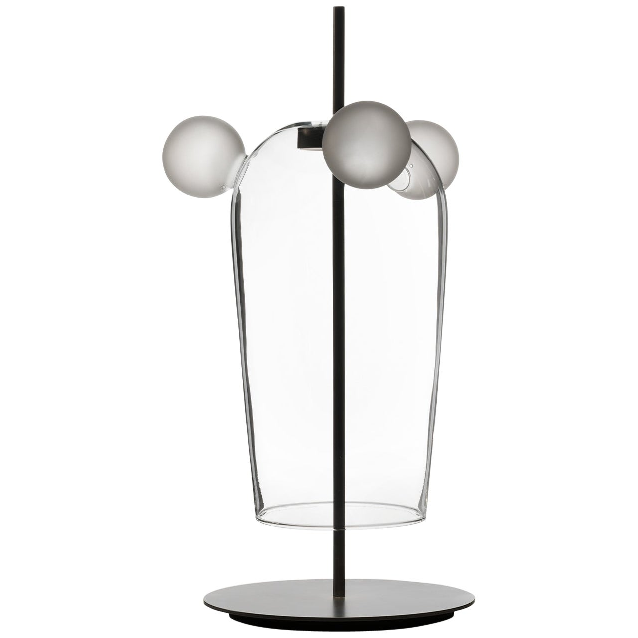 Bartolomeo, Melogranoblu, Table Lamp, Clear Glass, Frosted Glass