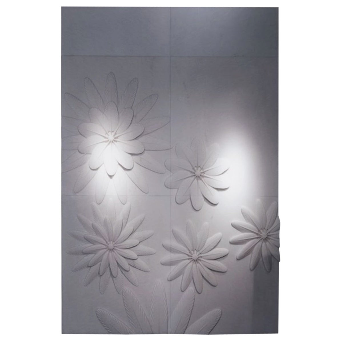 Contemporary Italian Marble 3D Wall Feature in White Marble