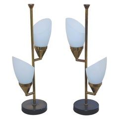 Italian Pair of Table Lamps in the Style of Stilnovo