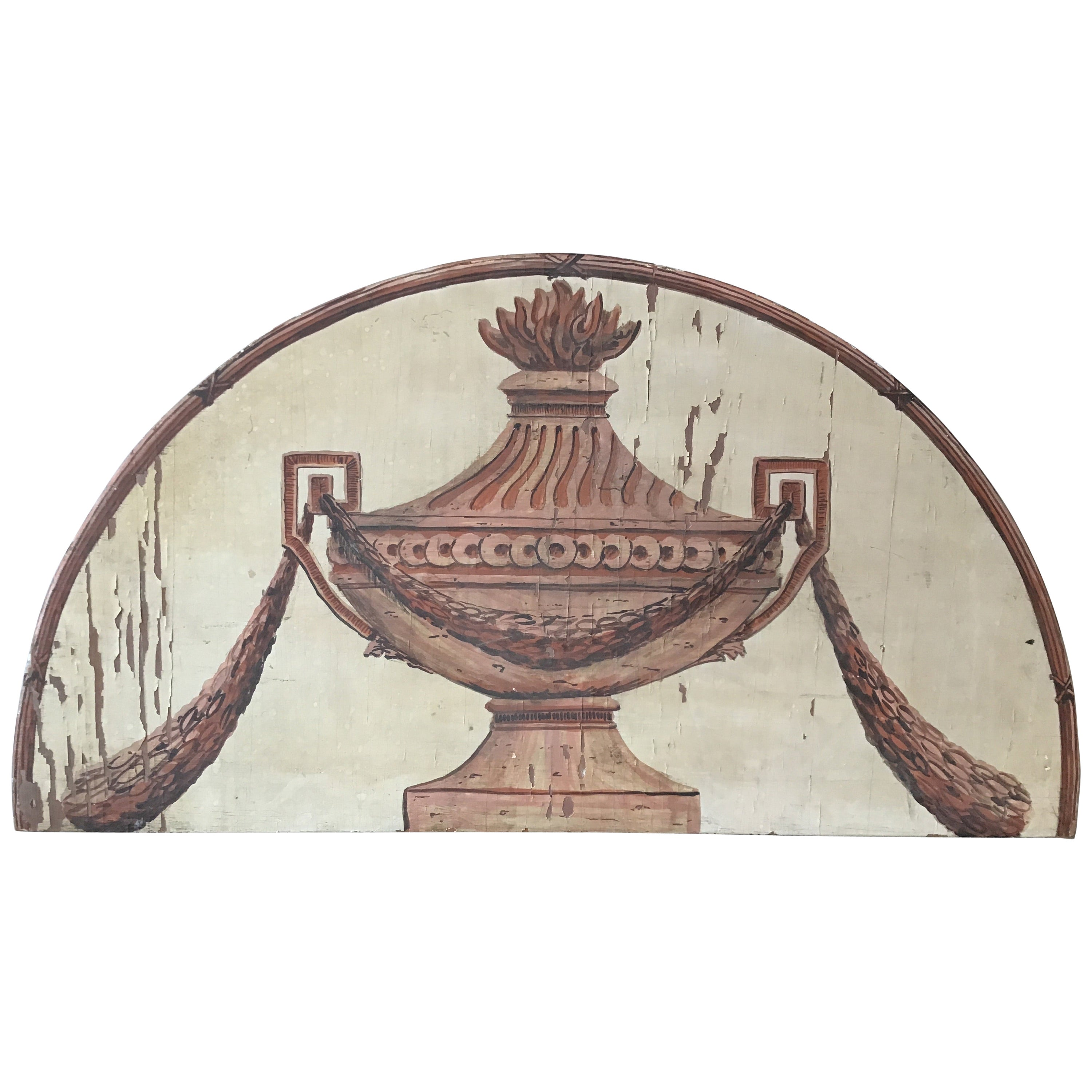 Classical Urn Painted on Wood Plaque