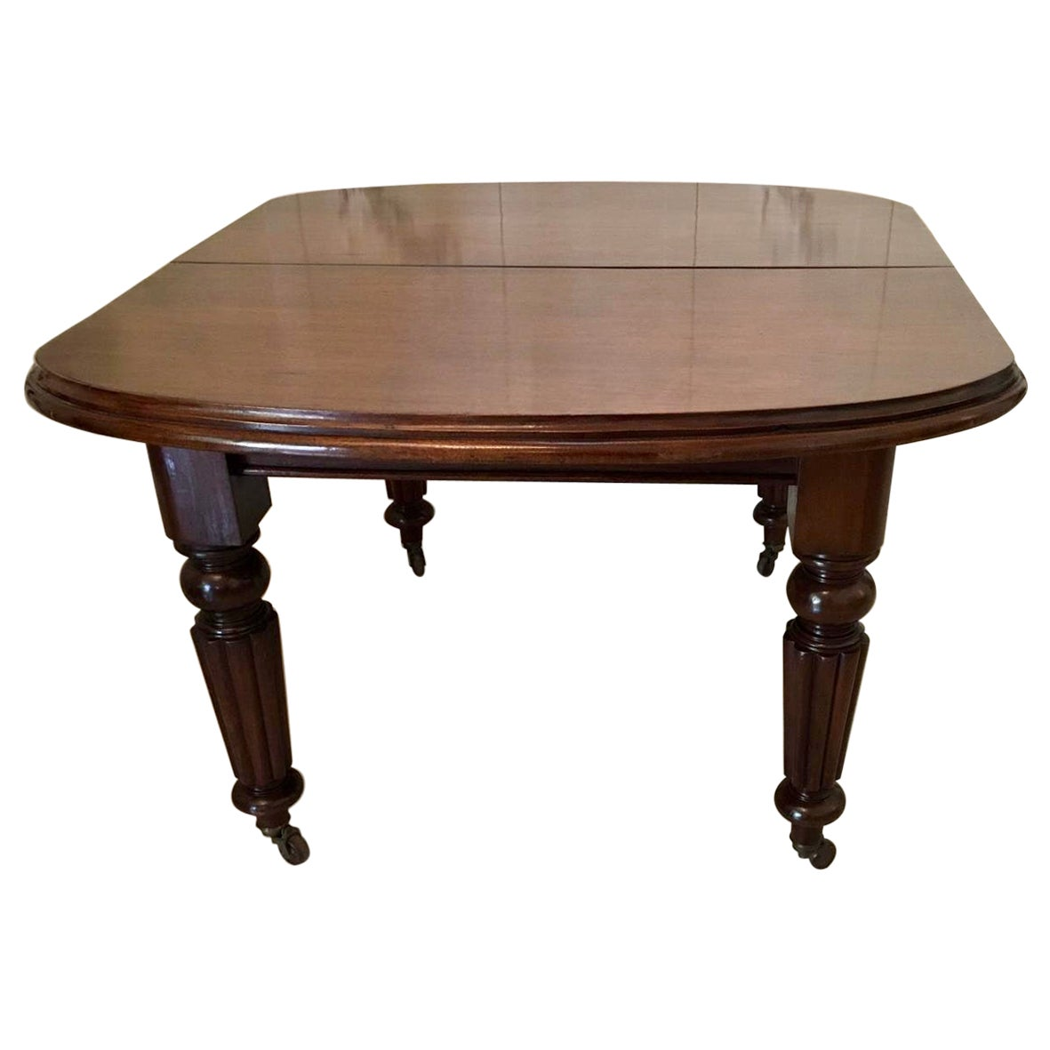 Antique Victorian Mahogany Extending Dining Table