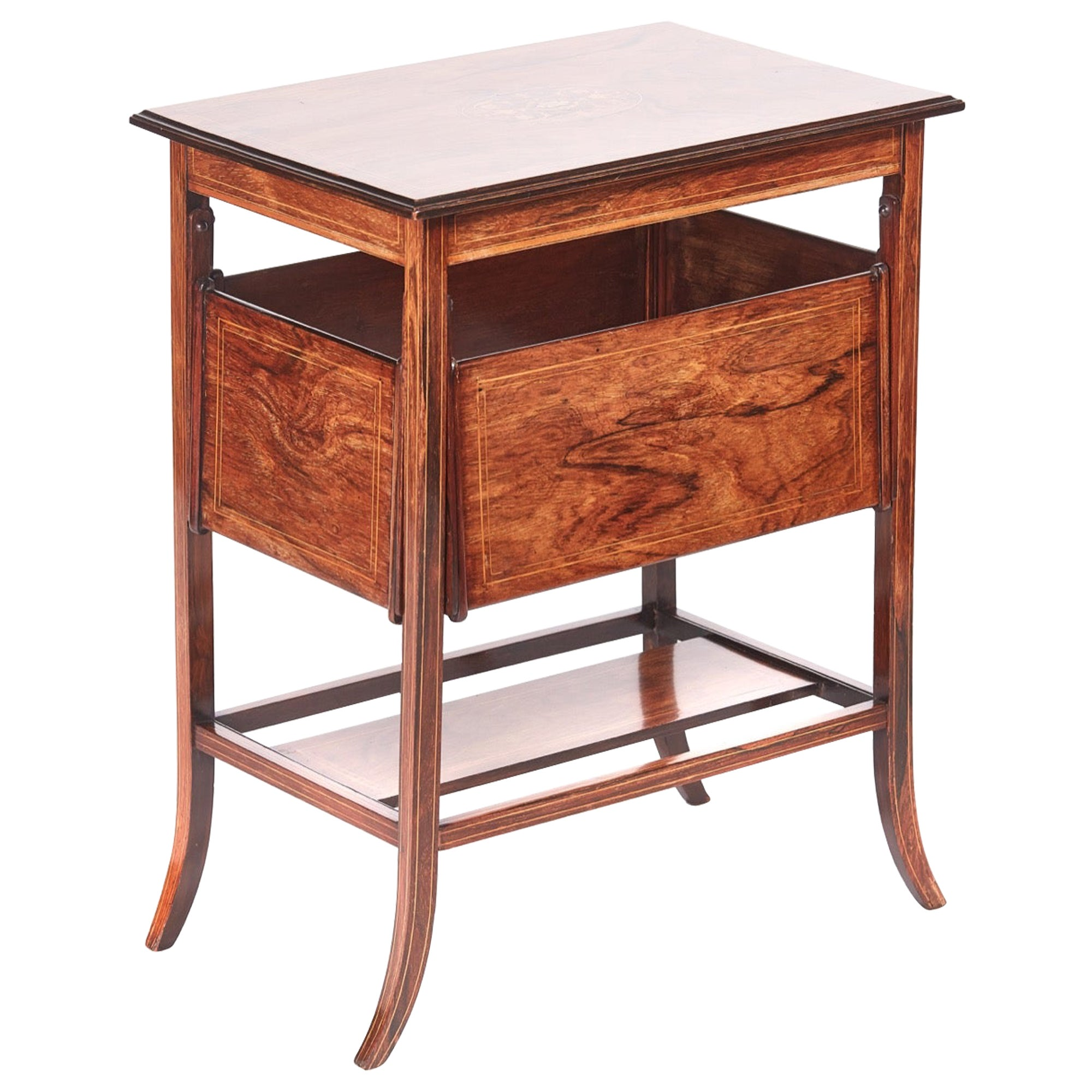Antique Edwardian Inlaid Rosewood Centre Table