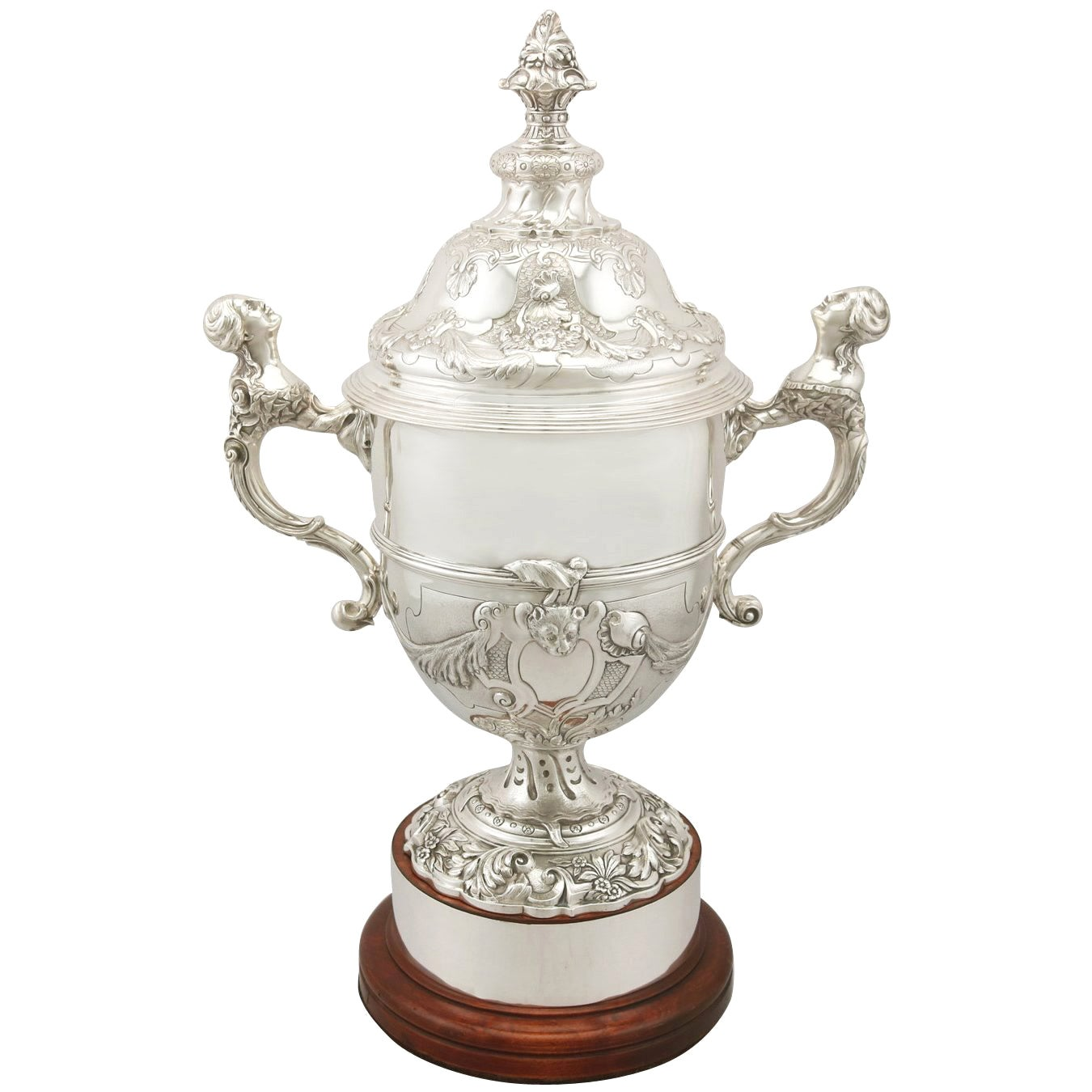 Sterling Silver Presentation Cup and Cover, Antique George V