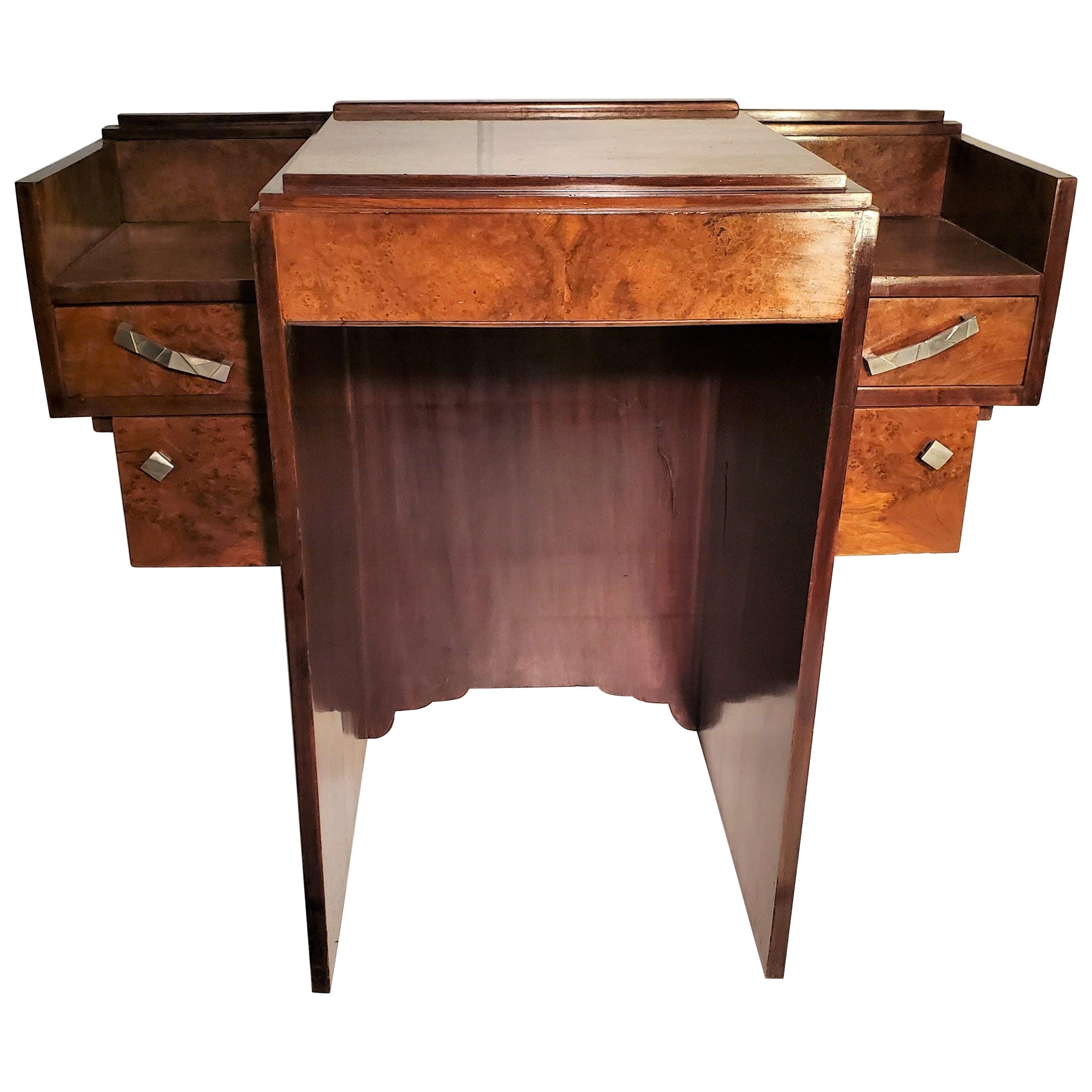 Small French Art Deco Writing Desk/ vanity