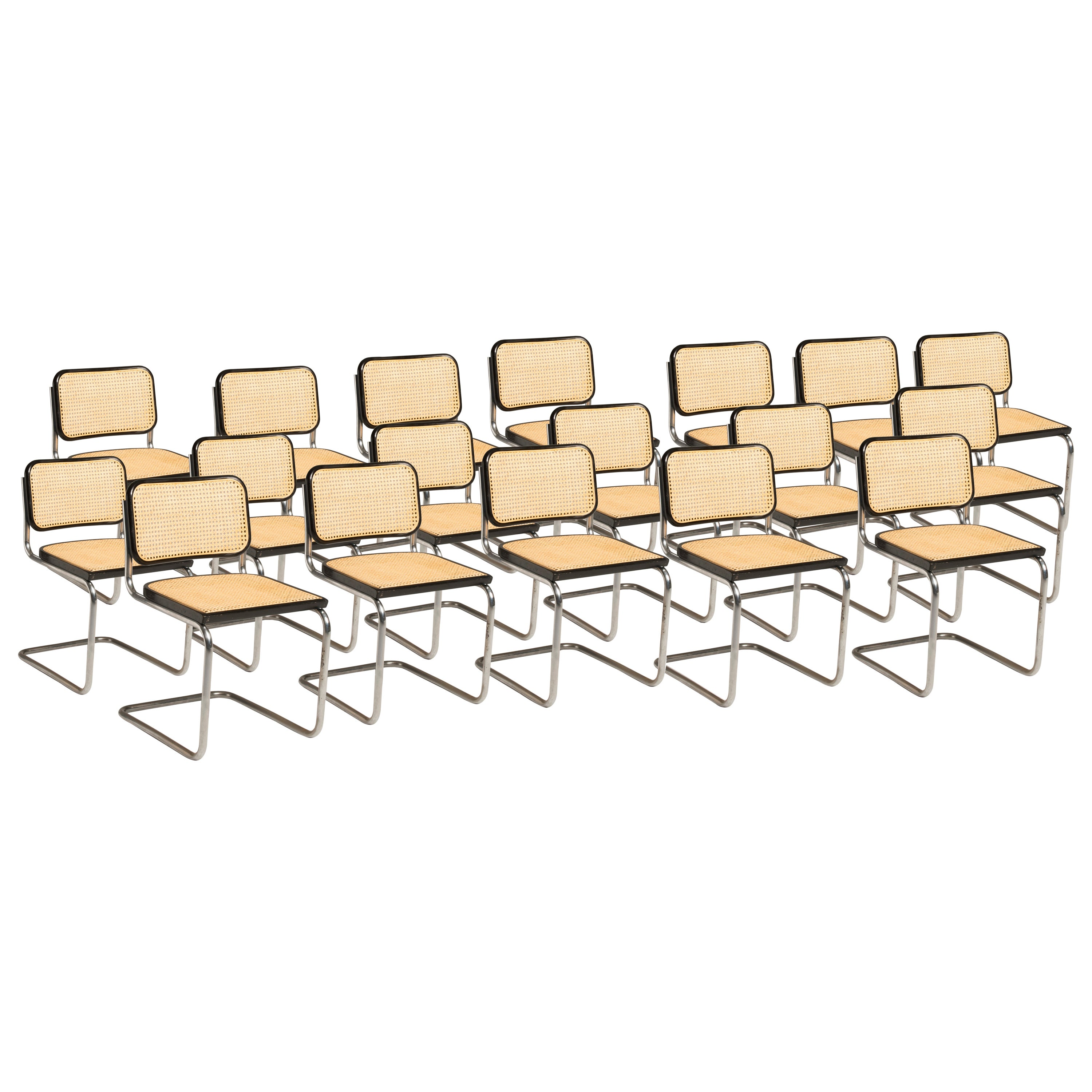 Bauhaus Marcel Breuer Cesca Chairs for Knoll Production, 8 Chairs Available
