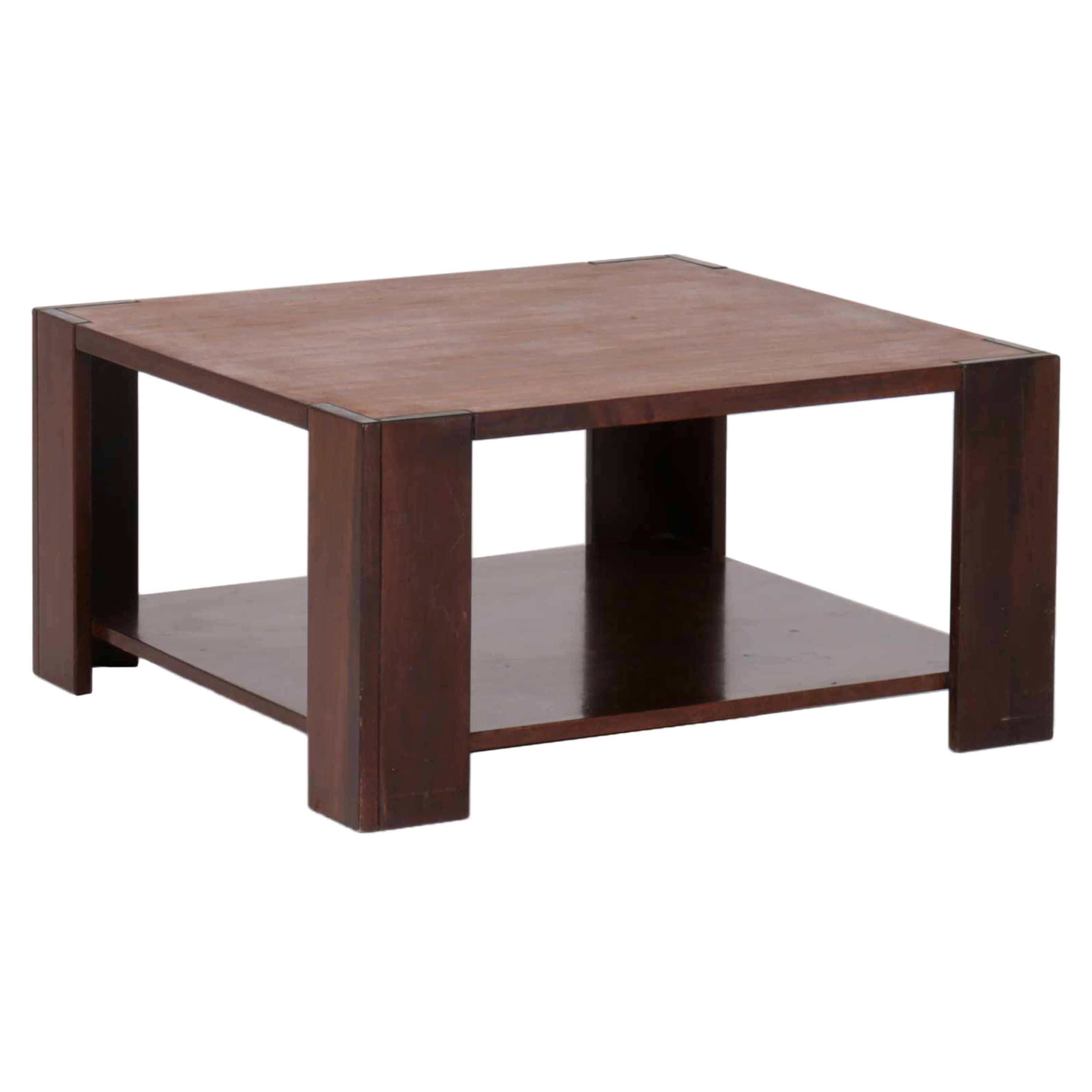 Bastiano Coffee Table in Wood by Tobia Scarpa