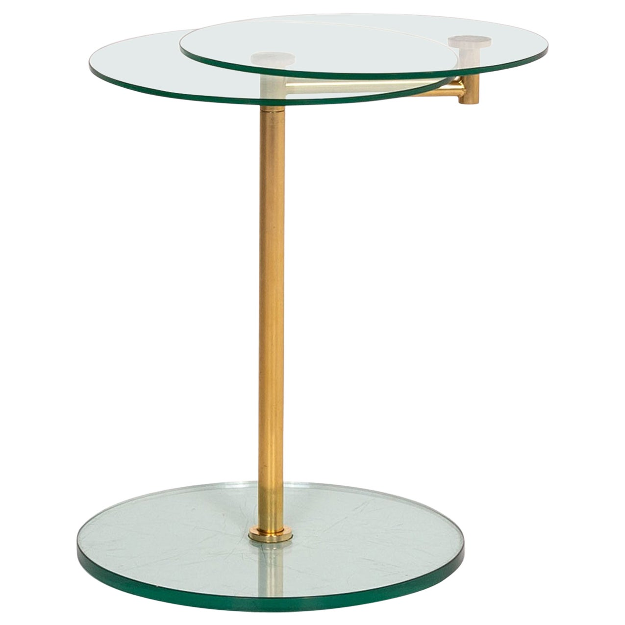 Ronald Schmitt Glass Side Table Gold Function Coffee Table Adjustable Table