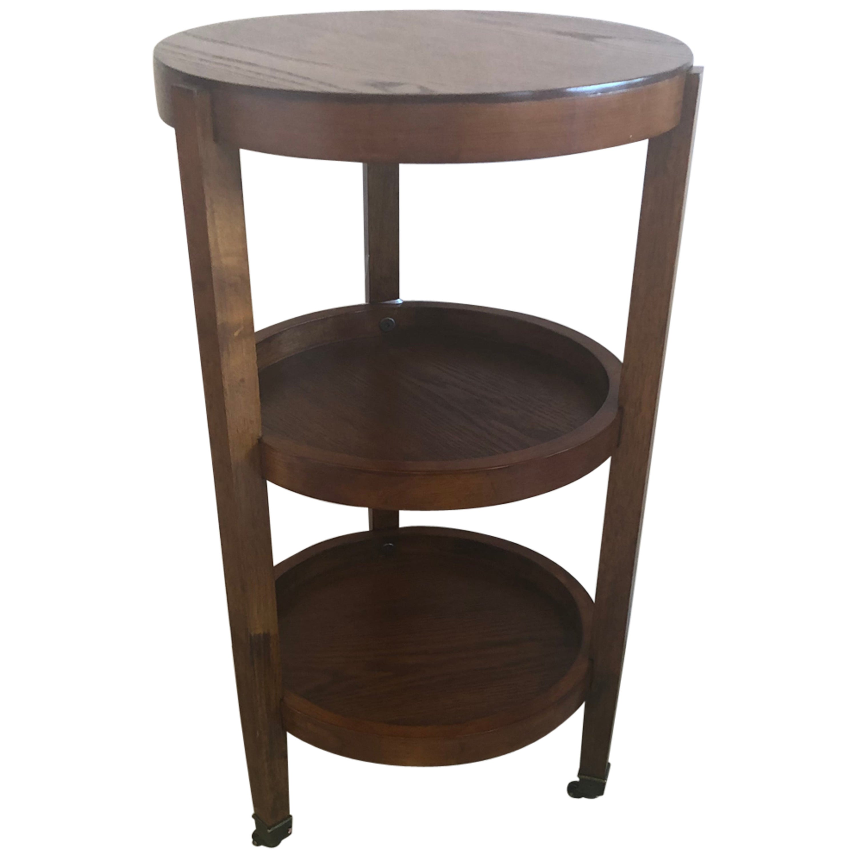 Versatile Handsome Mahogany 3-Tier Side Table End Table