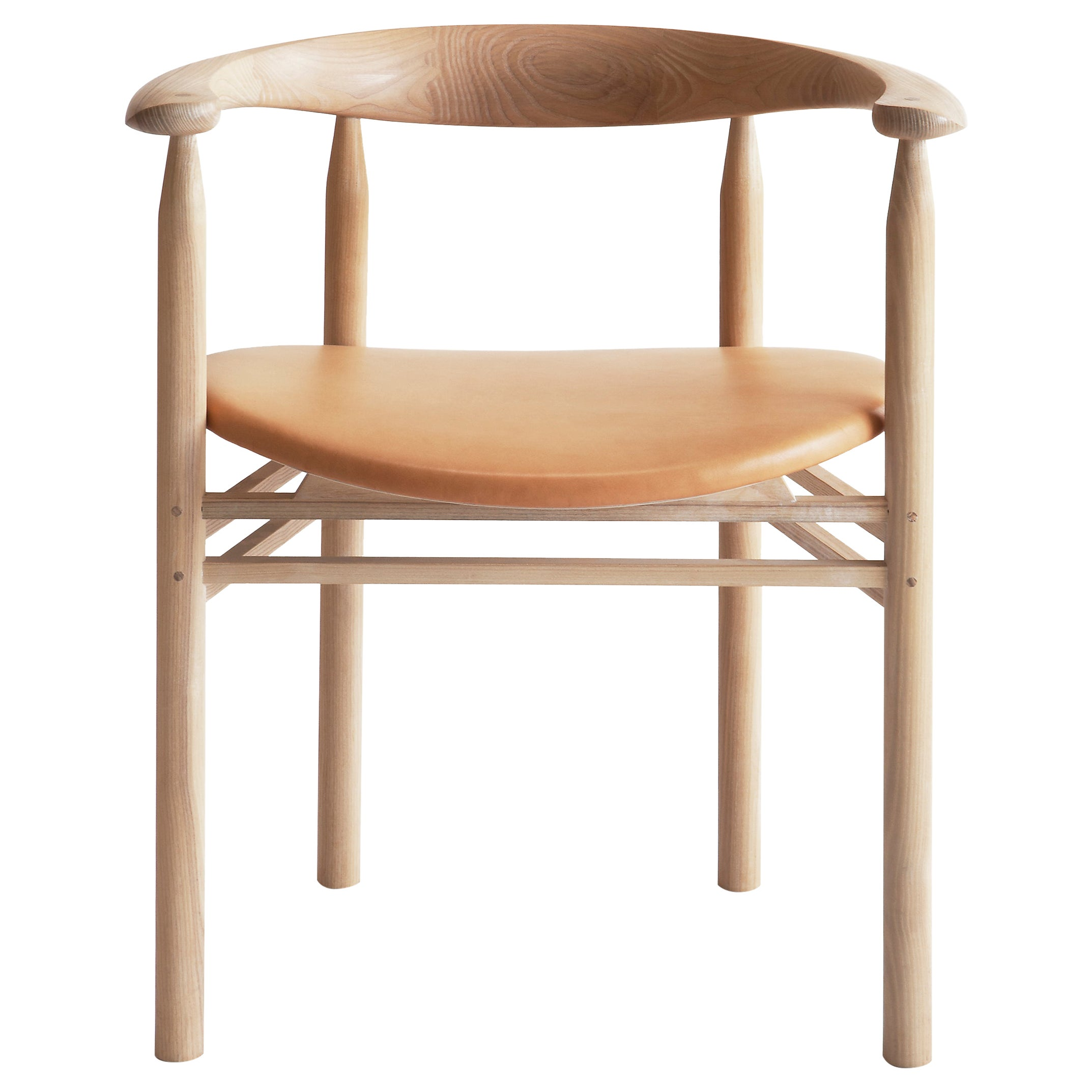 Linea RMT6 Armrest Chair in Ash by Rudi Merz