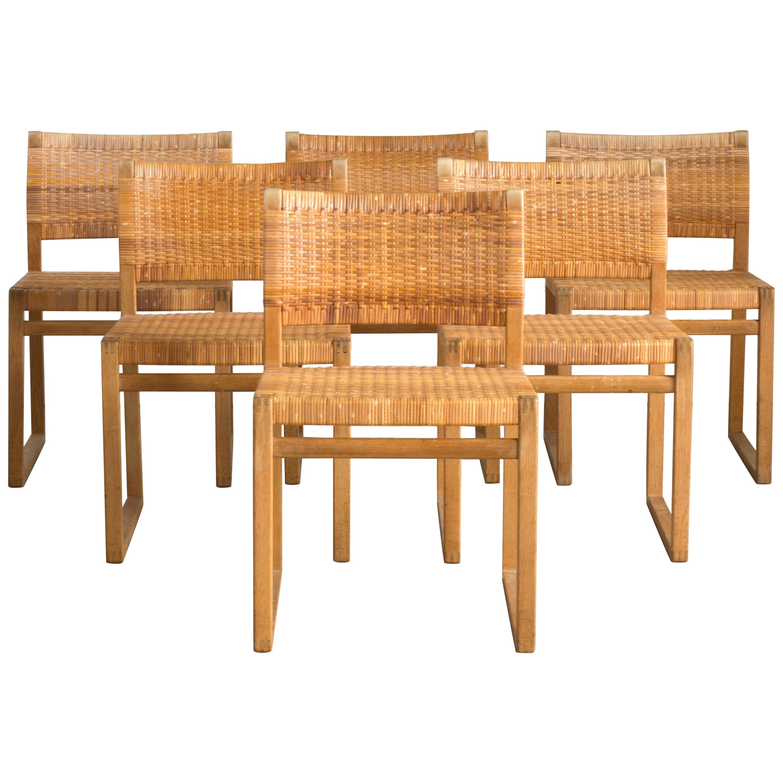 Børge Mogensen Set of Six Chairs for P. Lauritzen & Son