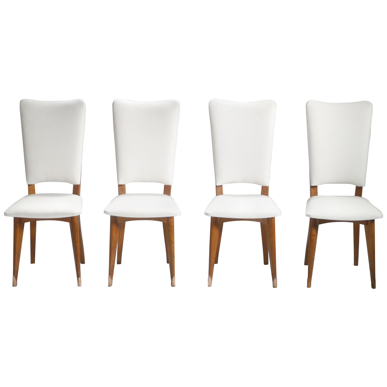 Set of Four Midcentury Scandinavian Teak Chairs, 1960s