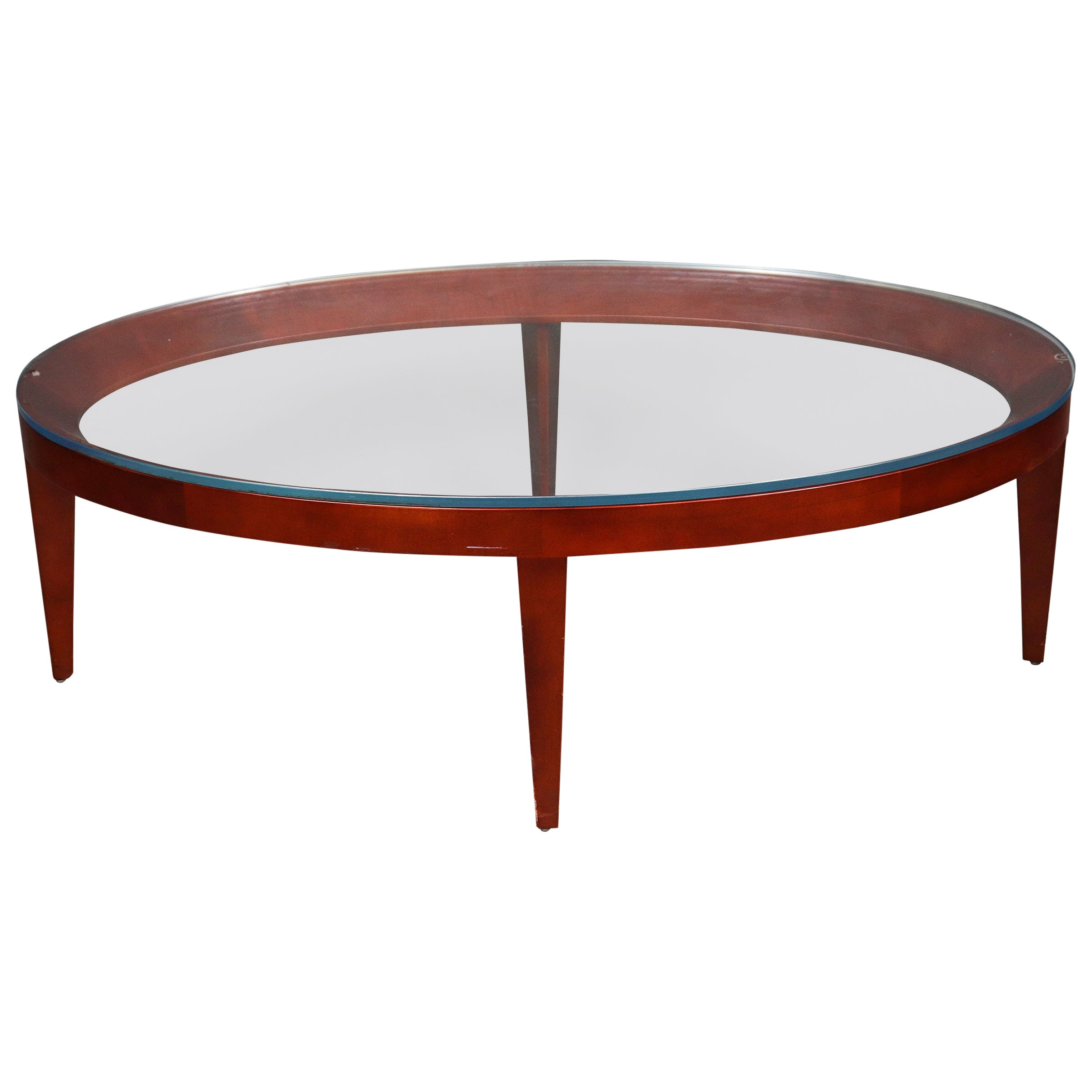"Mark Goetz for Bernhardt Design Modern ""Cirque"" Oval Coffee Table"
