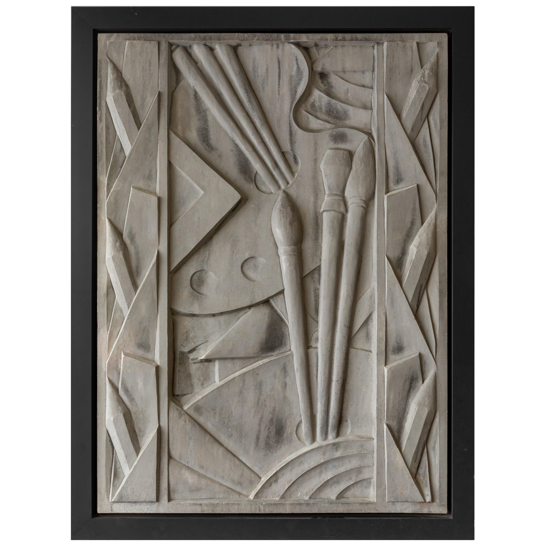 Barbizon Plaza Hotel Cast Aluminum Frieze Panel, New York, 1930