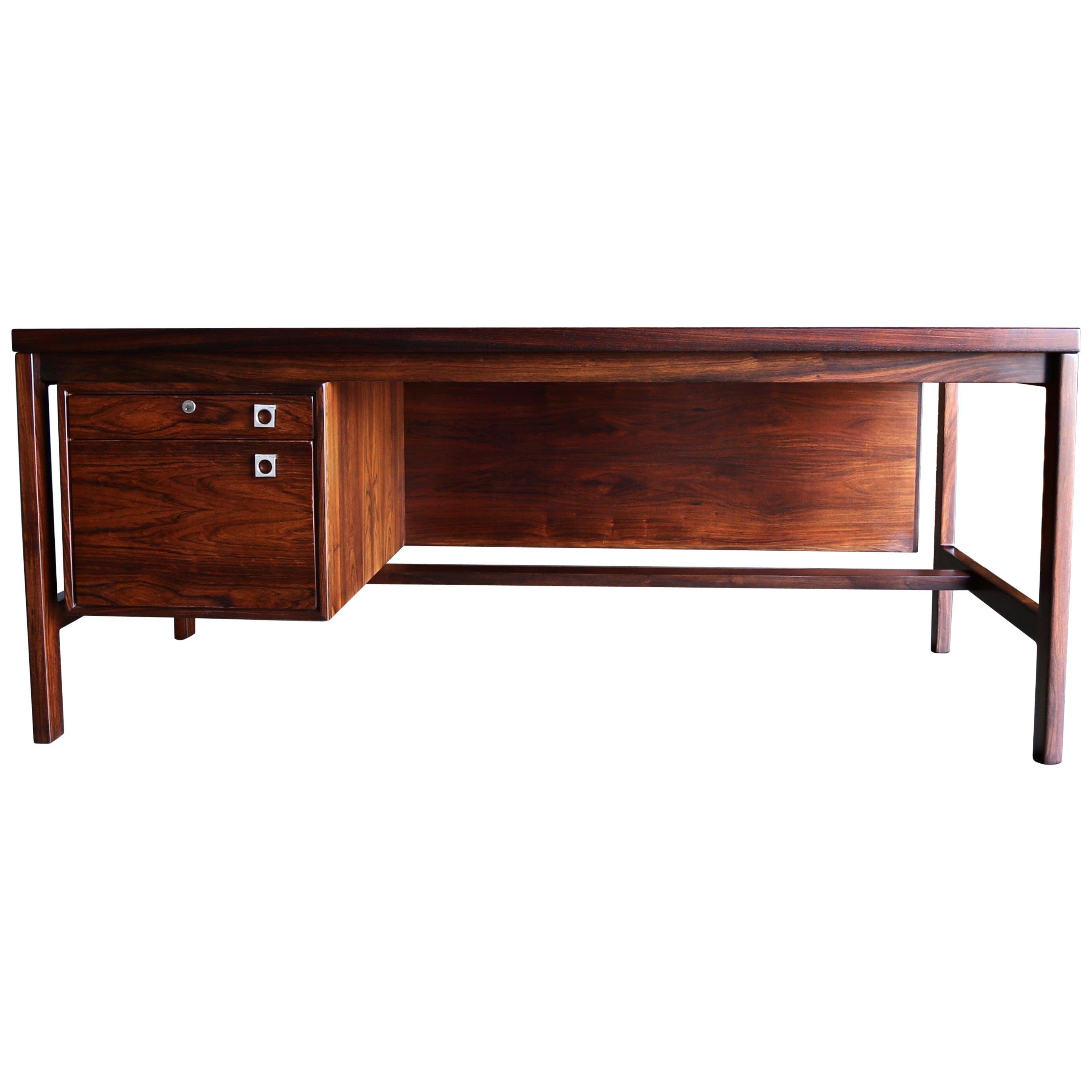Arne Vodder Rosewood Desk for H.P. Hansen, circa 1960