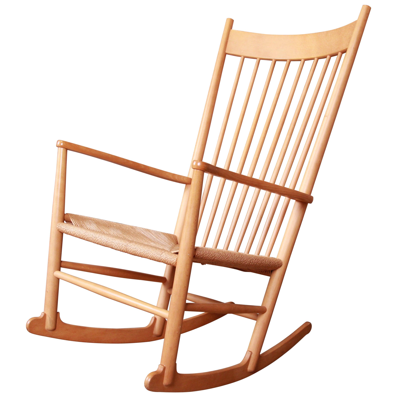 Hans Wegner for FDB Møbler Danish Modern J-16 Rocking Chair