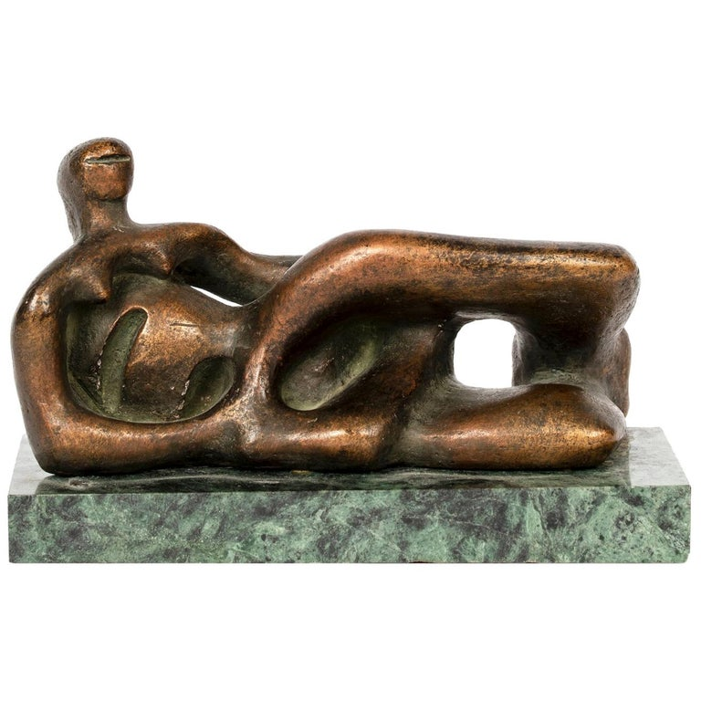 Reclining Female Figure Reproduction After Henry Moore, circa 1971 For Sale