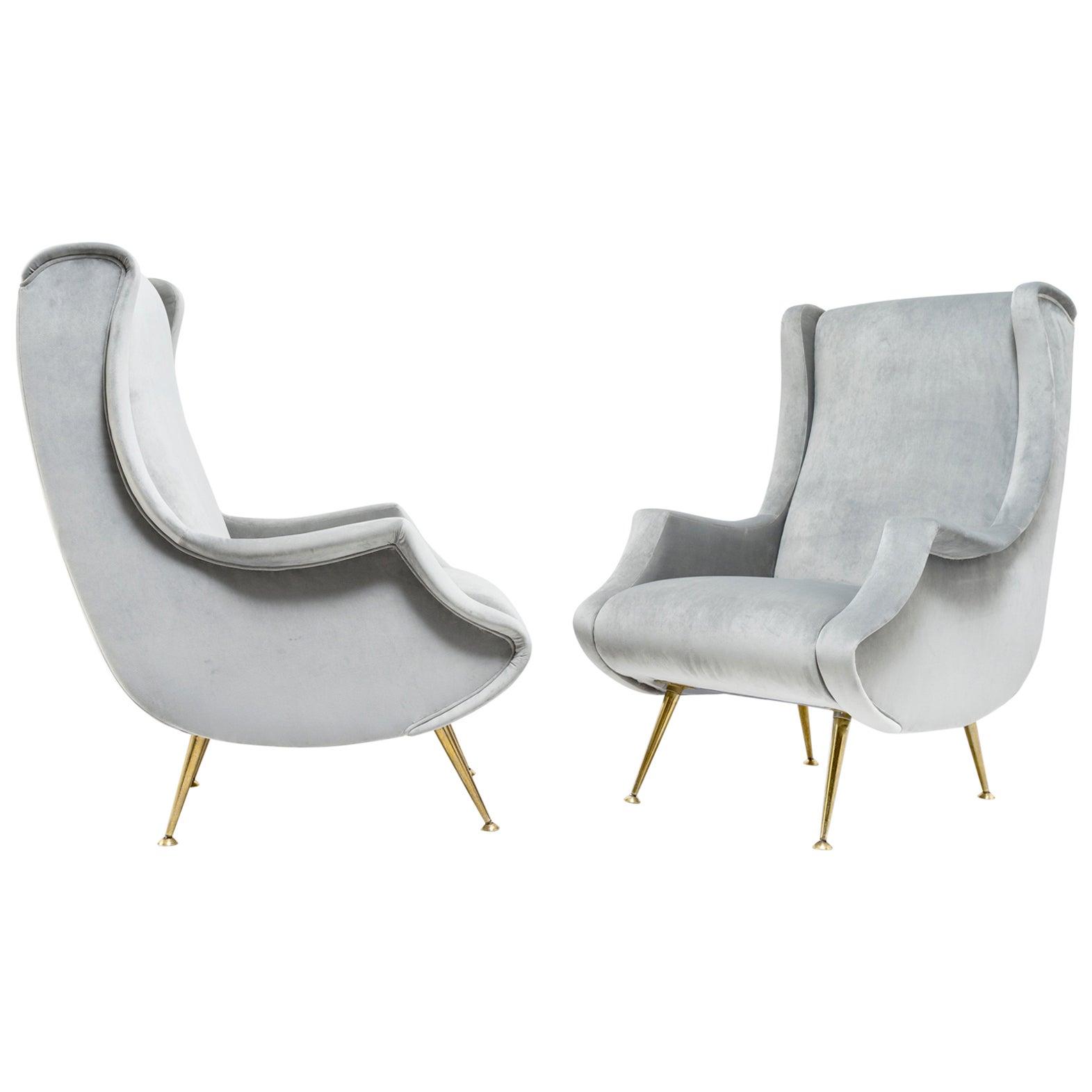 Pair of armchairs by ISA Bergamo - Italy, 1950s