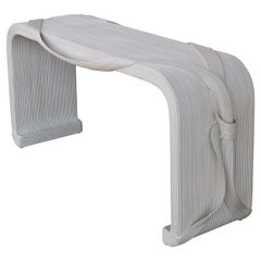 Reed Console with Ribbon and Bow by Betty Cobonpue