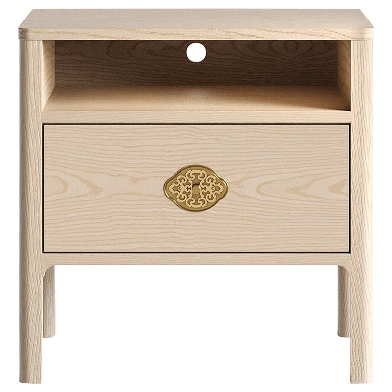 Swiss Nightstand in Natural Solid European Ash
