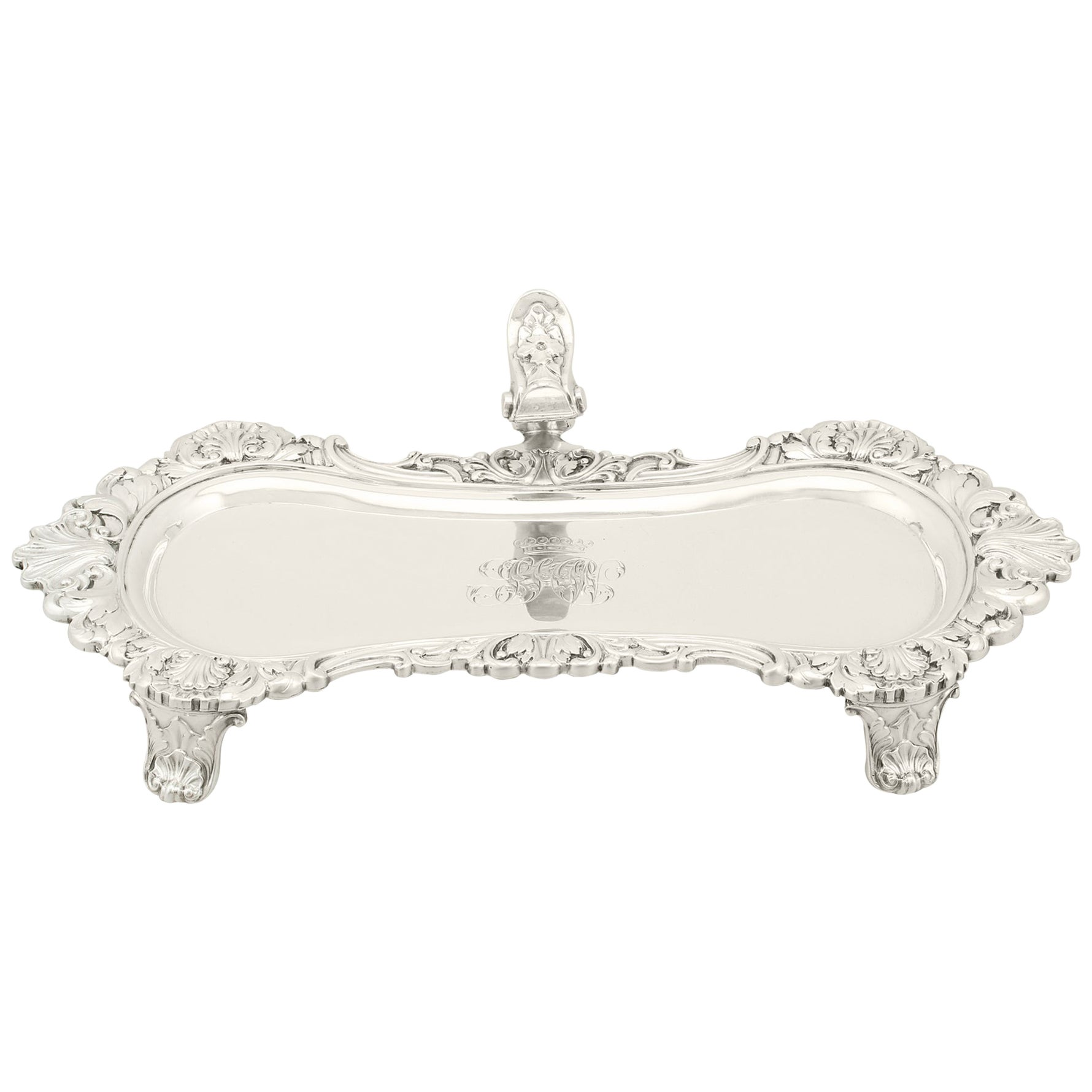 1924 Antique Sterling Silver Snuffer Tray by William Stroud