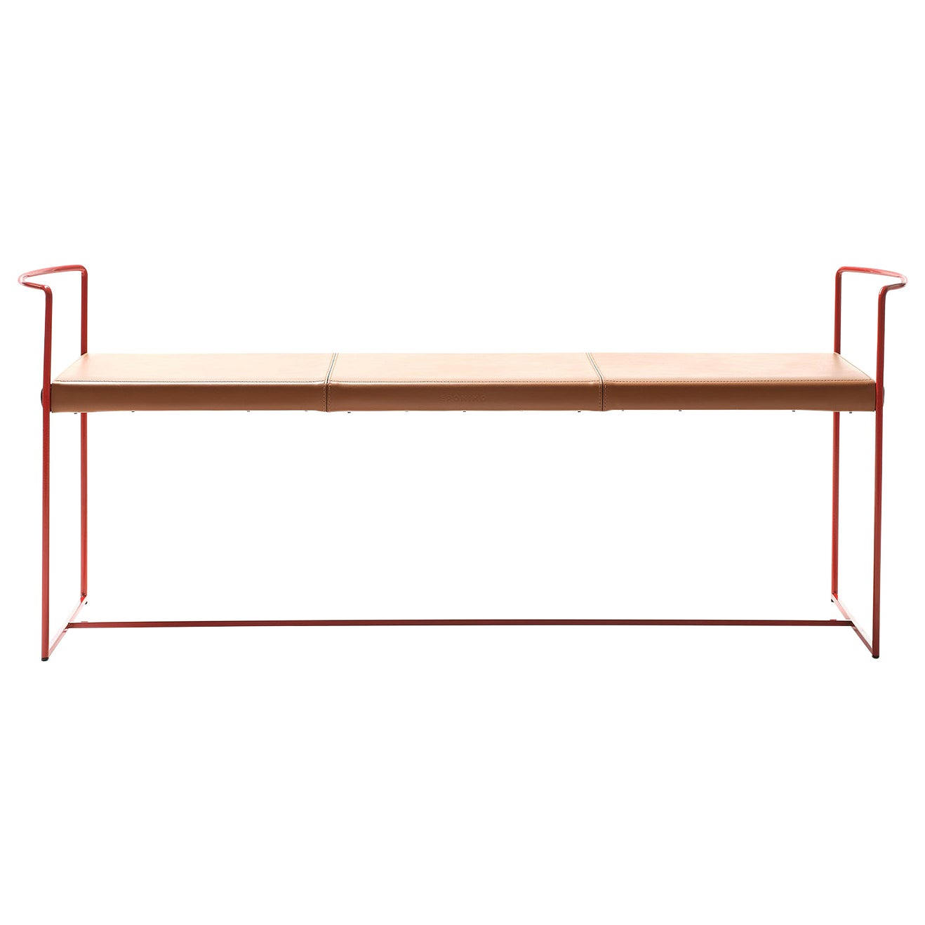 New Outline Red Bench by Alberto Colzani
