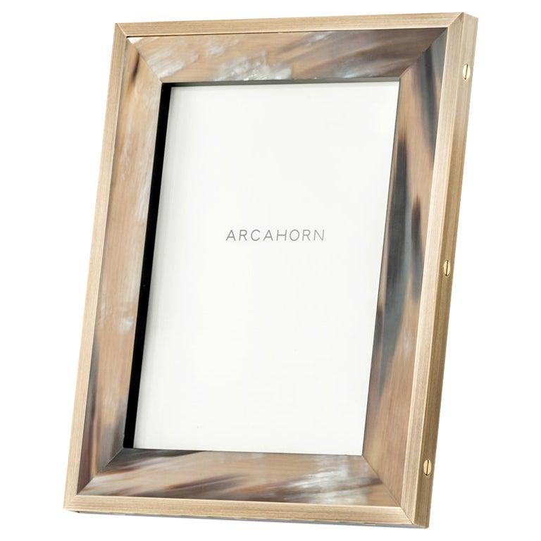 Zeno Picture Frame in Corno Italiano and Black Oak Veneer, Mod. 5252