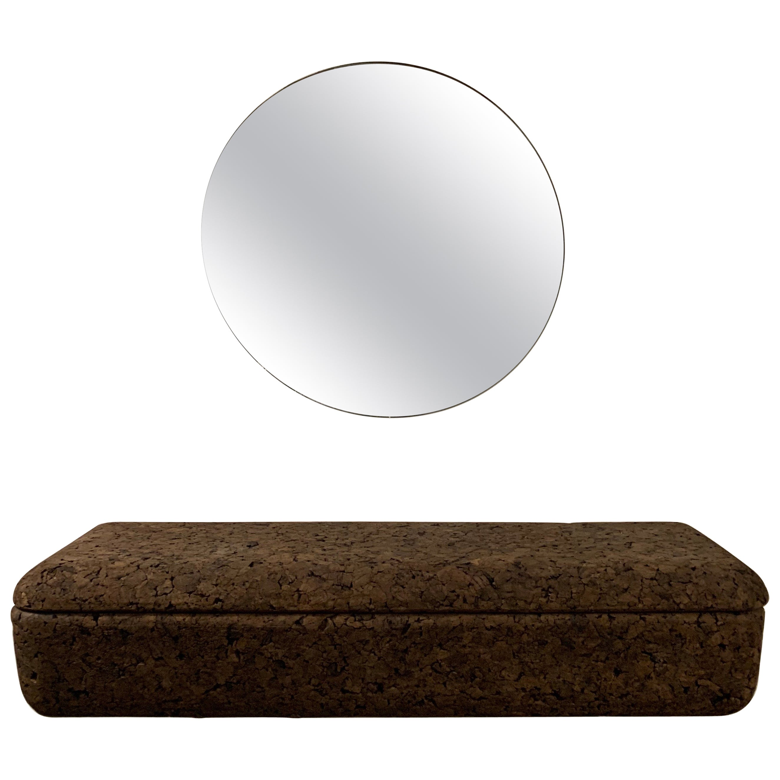 Black Cork Wall Mounted Console and Mirror