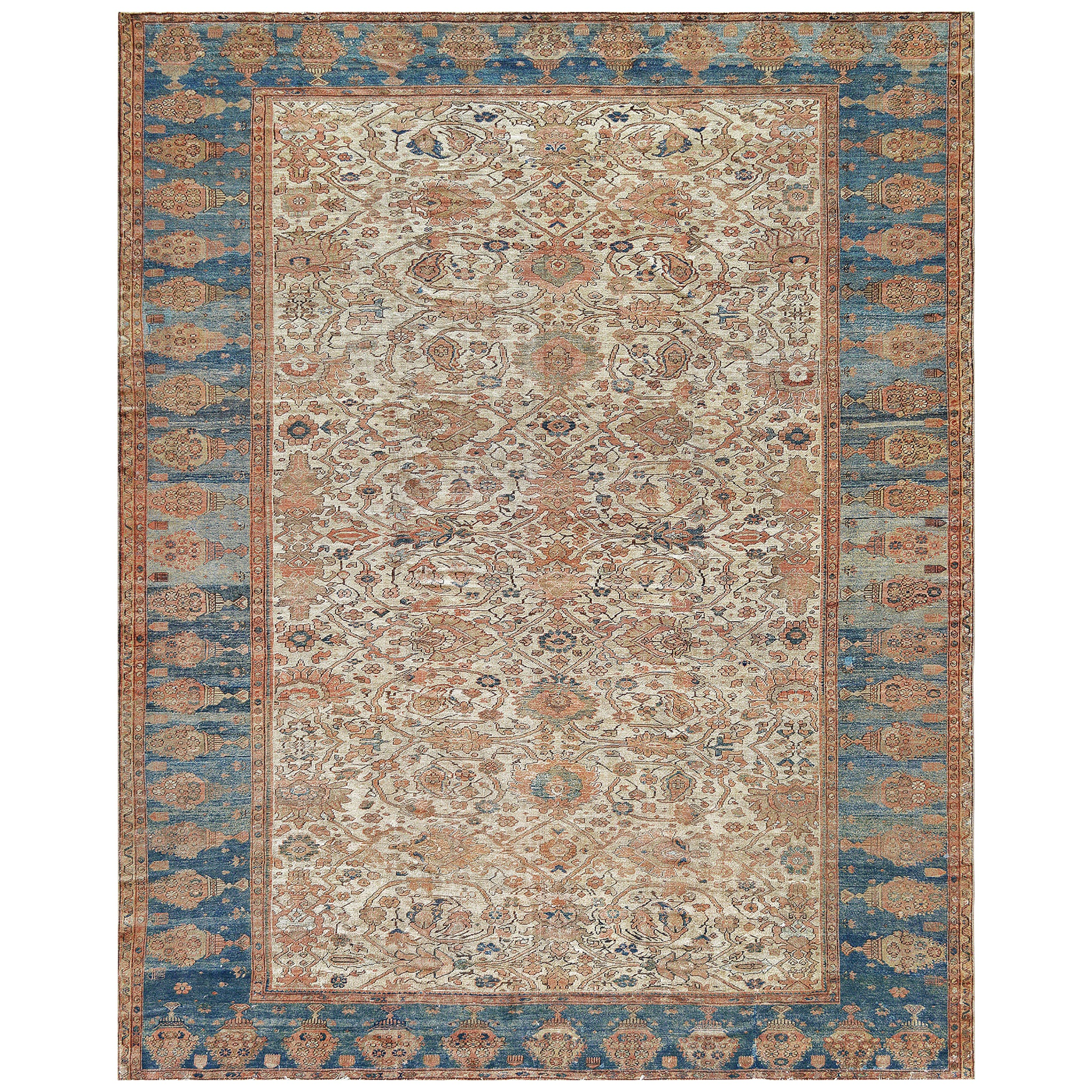 Traditional Handwoven Wool Persian Ziegler Sultanabad Rug