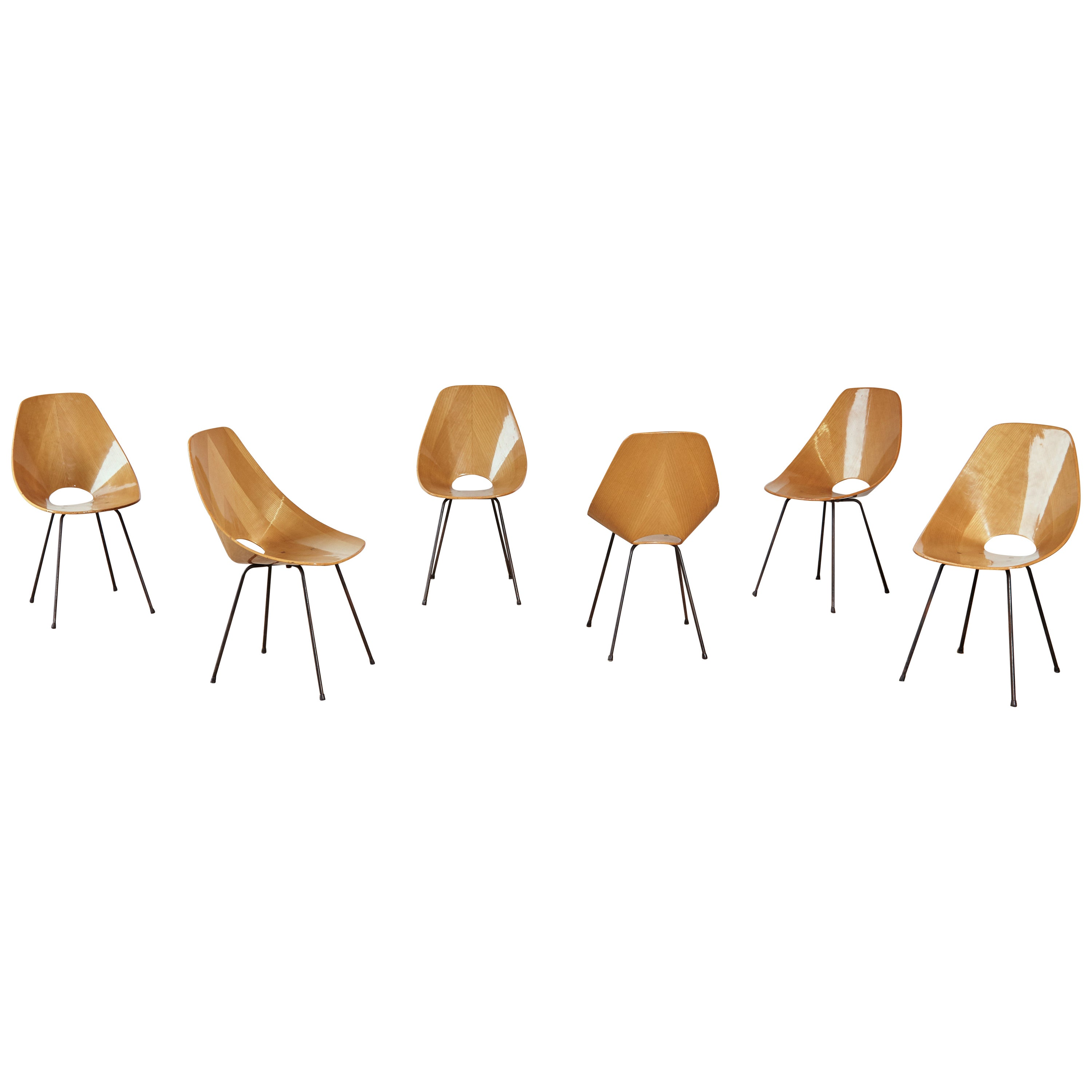 Set of Six Medea Chairs by Vittorio Nobili, Fratelli Tagliabue, Italy, 1950s