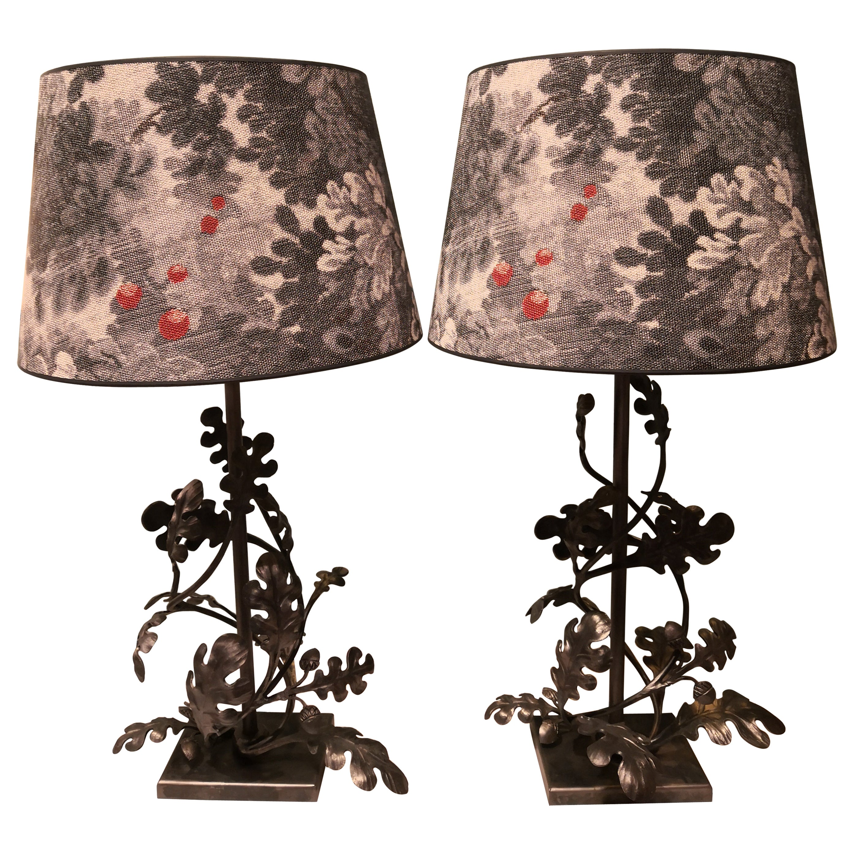 Country Style Pair of Table Lamps Handmade Iron Sofina Boutique Kitzbuehel