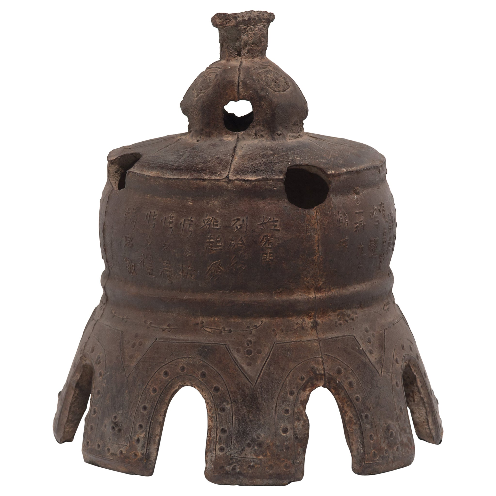 Grand Chinese Qing Dynasty Village Bell, circa 1800