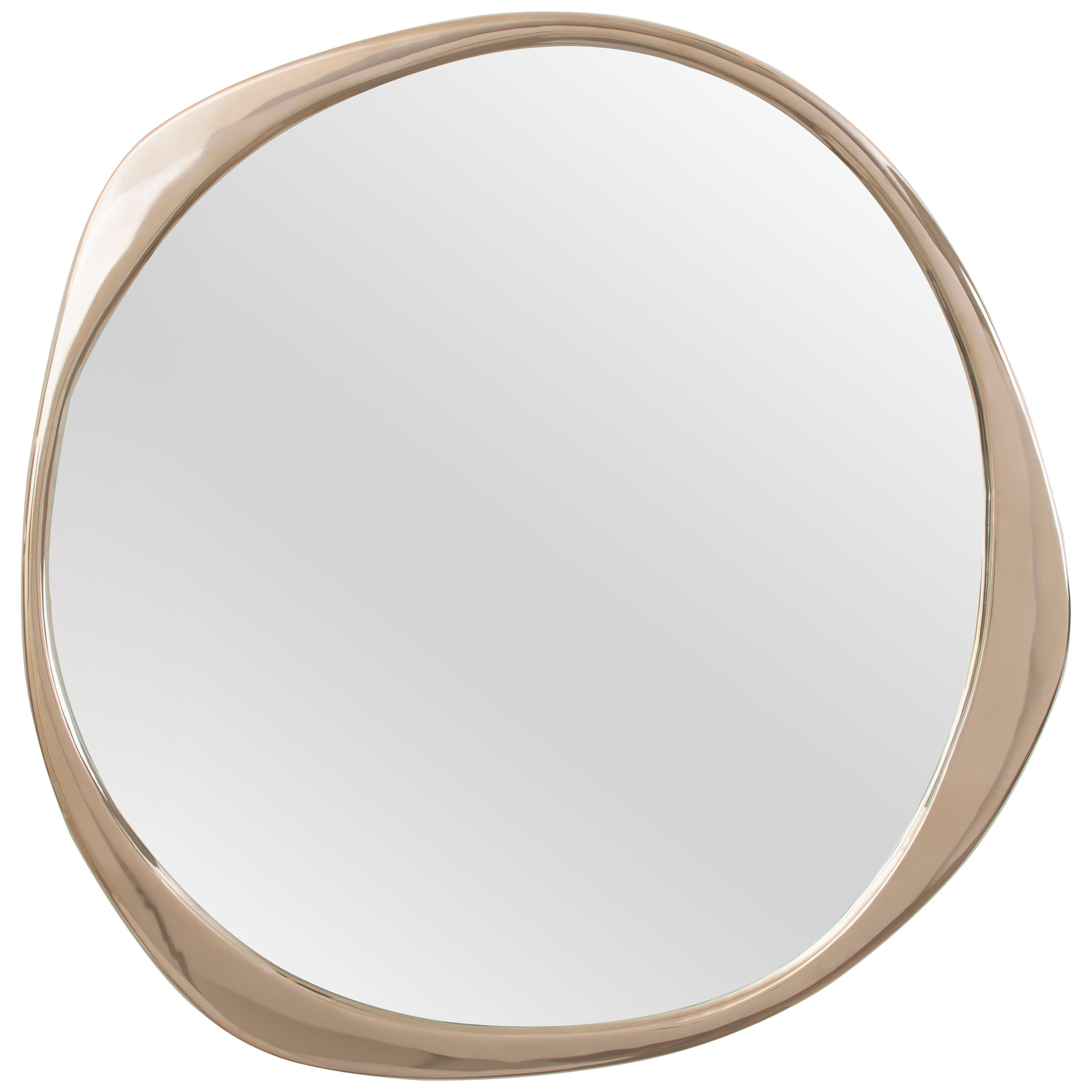 A. Cepa Wall Mirror Small in Polished Bronze