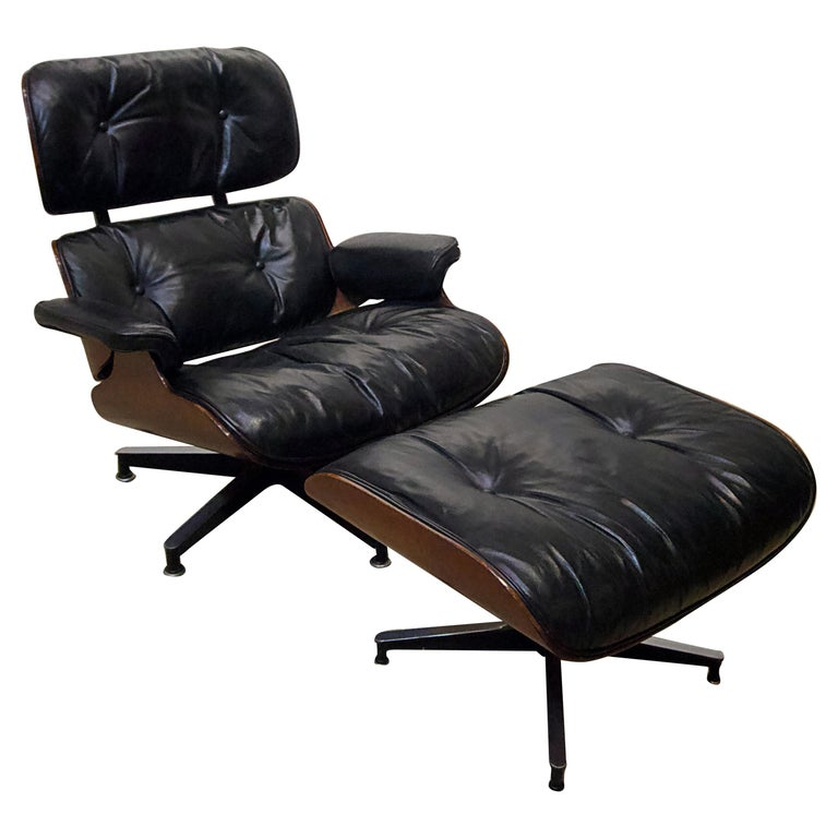 Ames Lounge Chair with Ottoman For Sale