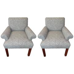 Pair of American Midcentury Animal Print Armchairs