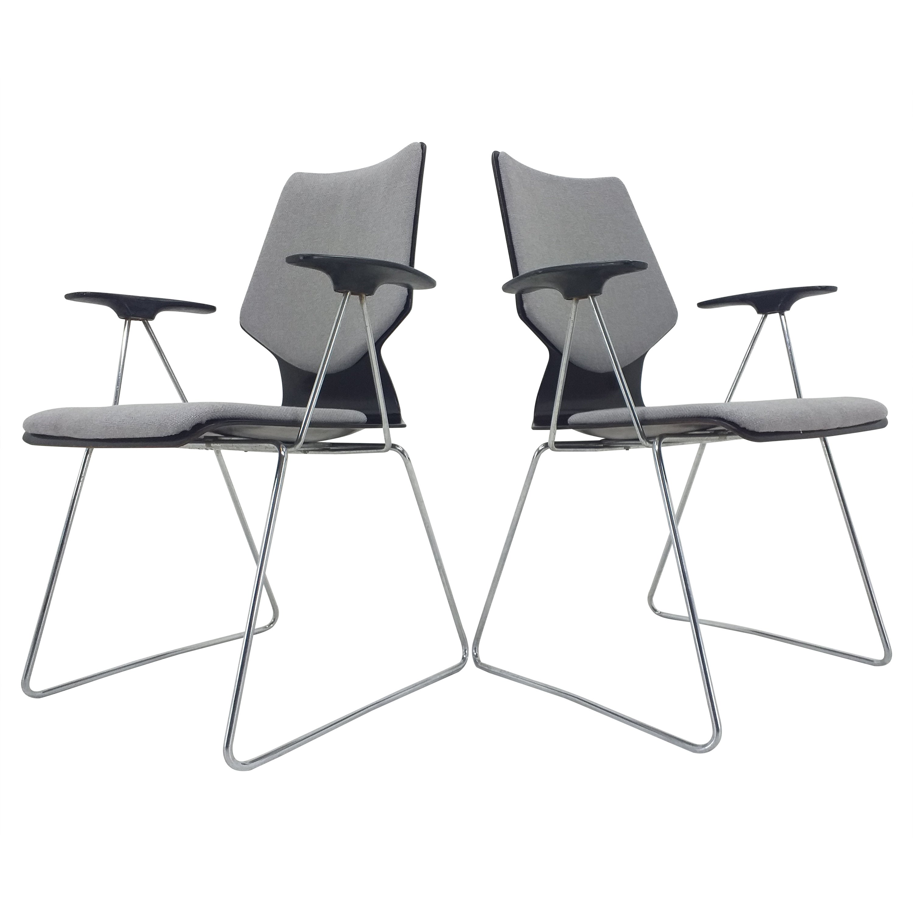 Set of Two Armchairs Designed by Elmar Flötotto for Pagholz, 1970s
